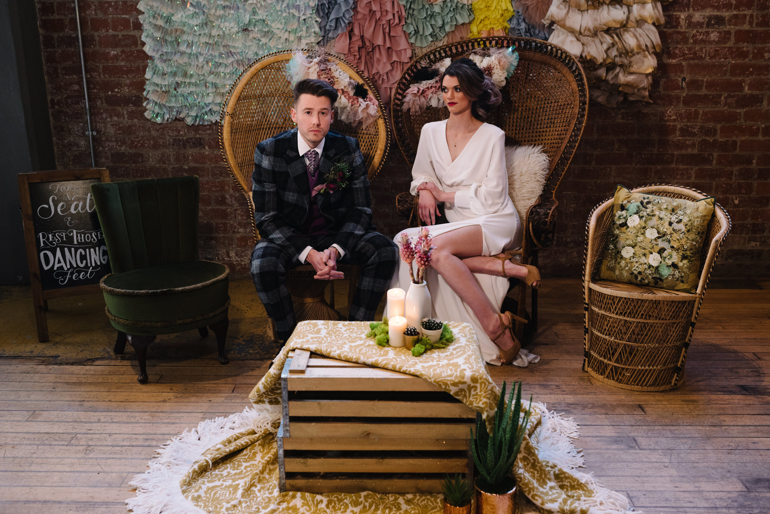 Modern Wedding Inspiration Shoot in Glasgow Brewery With a Frill Installation, Candy Floss and Neon 00135.jpg