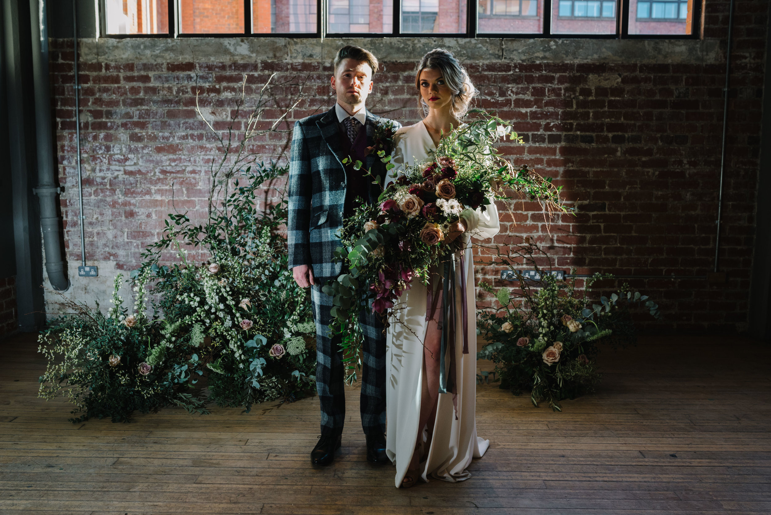 Modern Wedding Inspiration Shoot in Glasgow Brewery With a Frill Installation, Candy Floss and Neon 00126.jpg