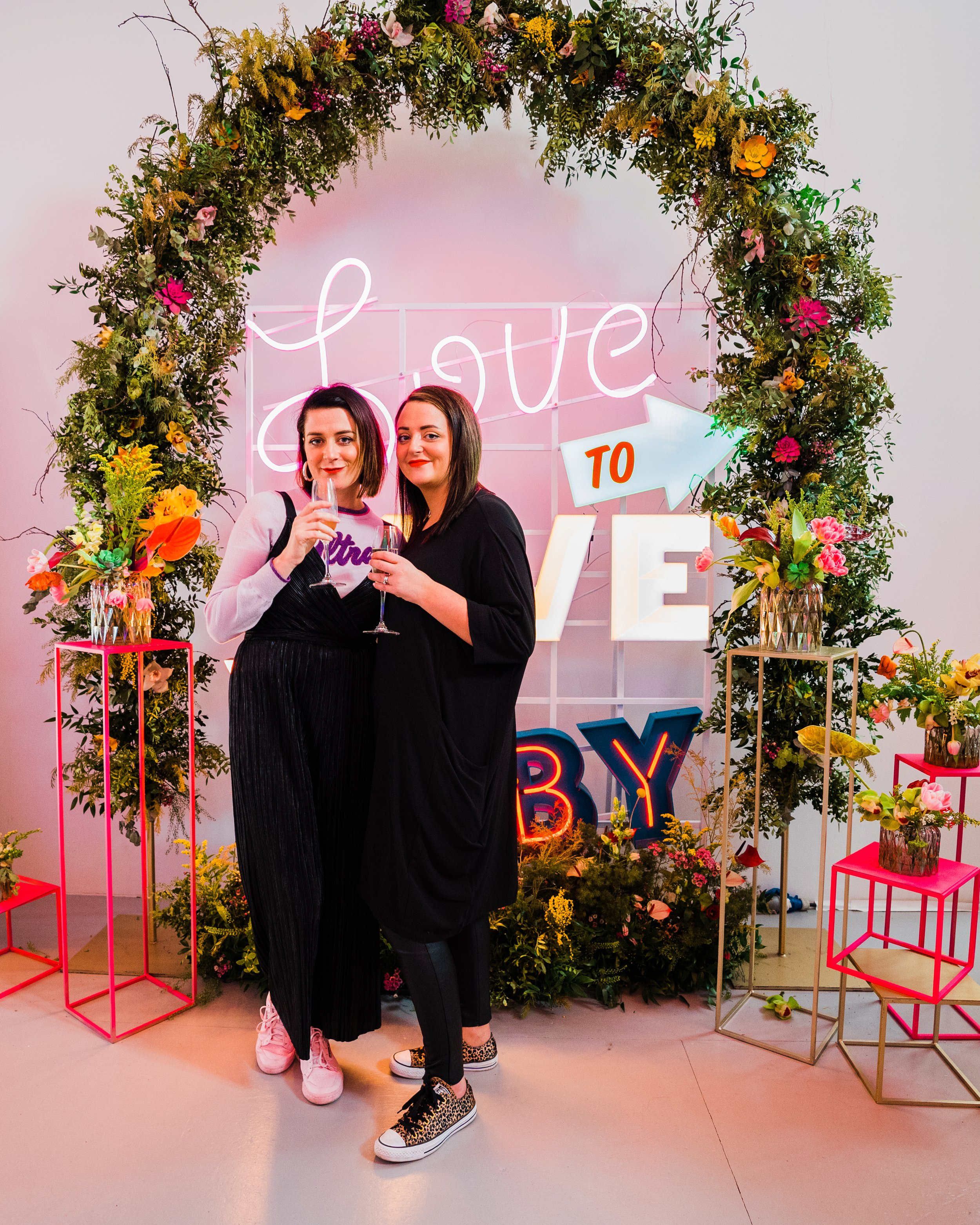 The UN-WEDDING SHOW dream team Melissa Woods (left) and sister Aisling