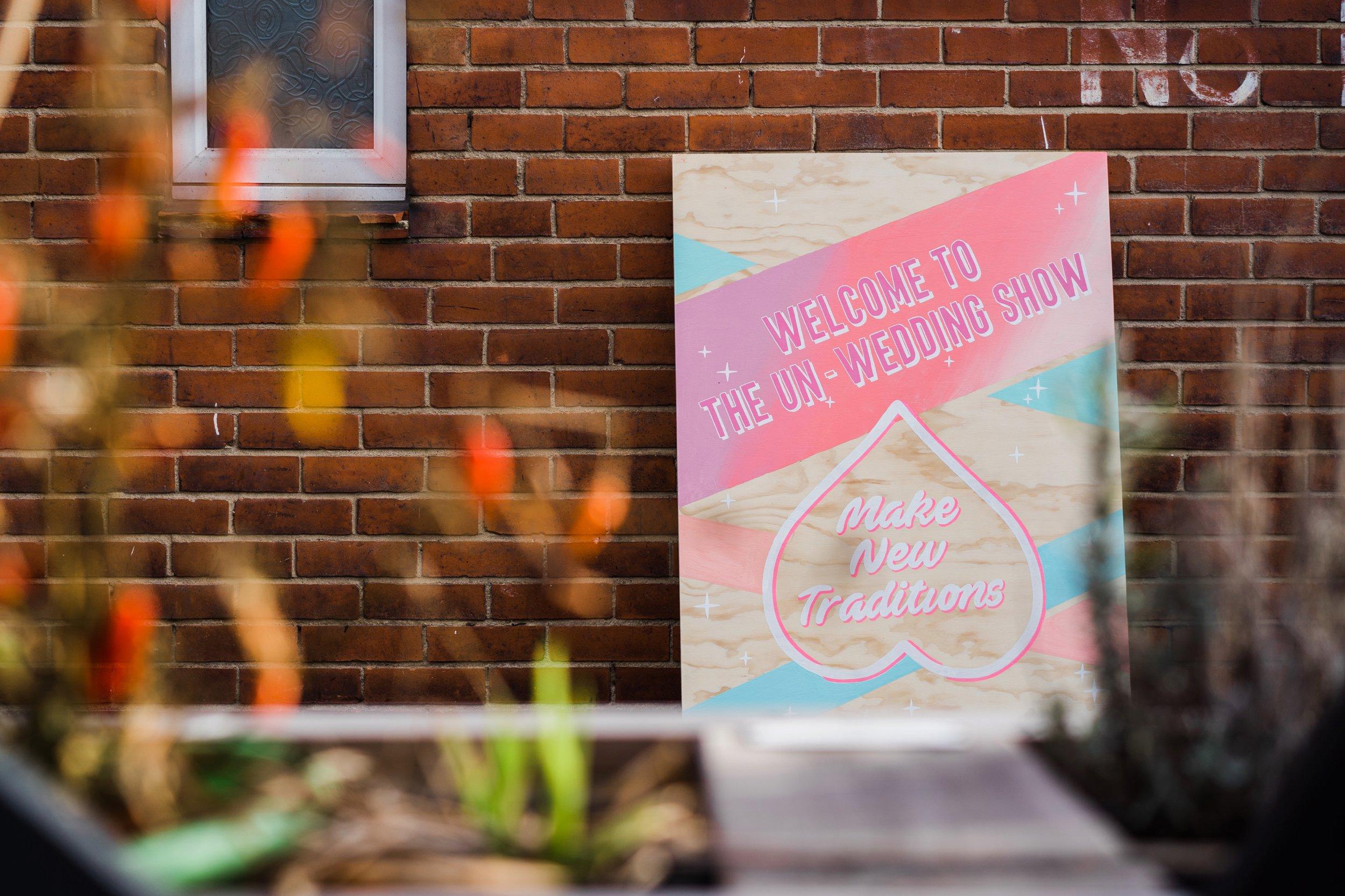 All Frills Studio  super cool wedding signage
