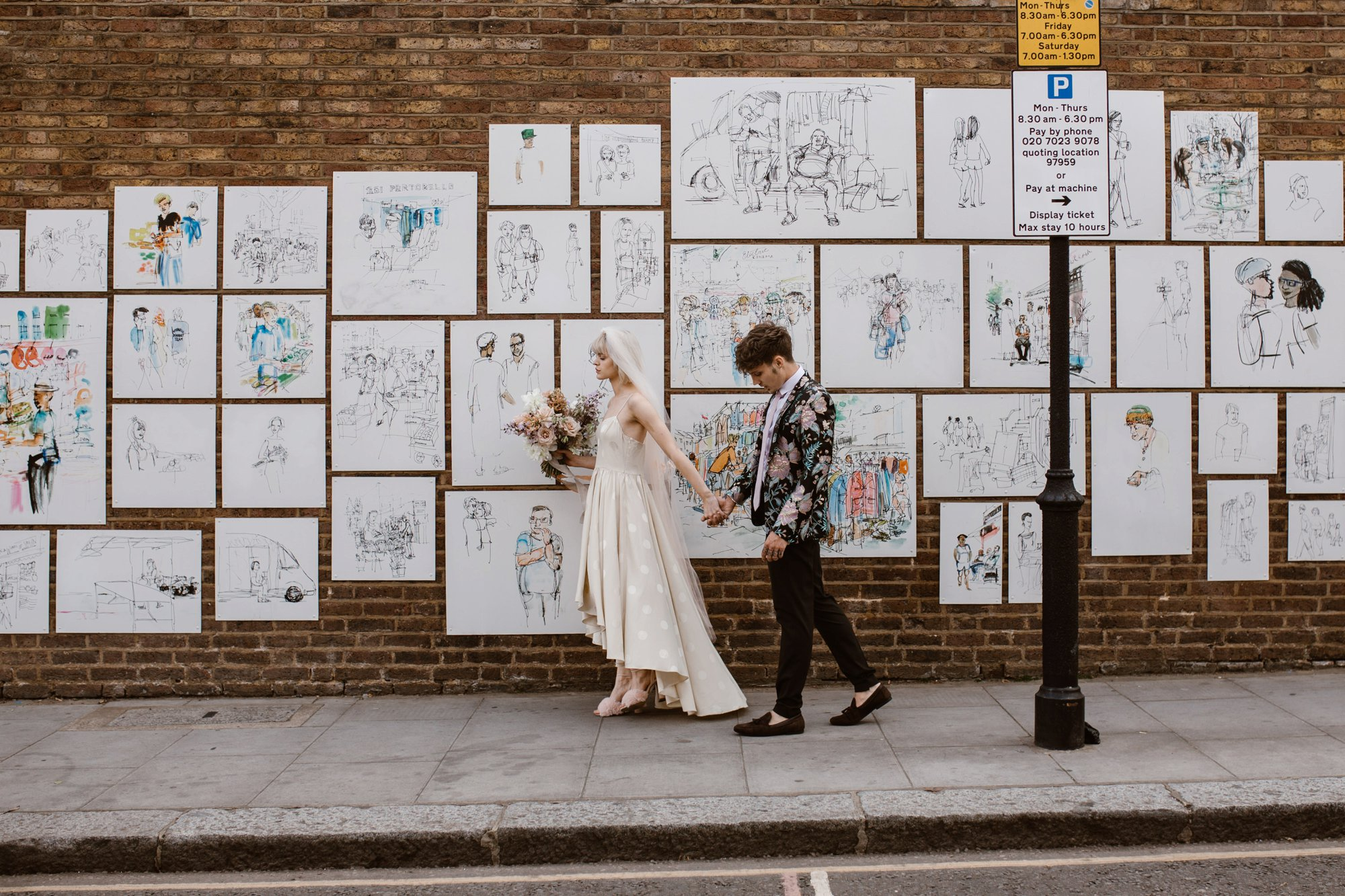 Modern Floral Notting Hill Elopement Agnes Black Cool Bride London 00030.jpg