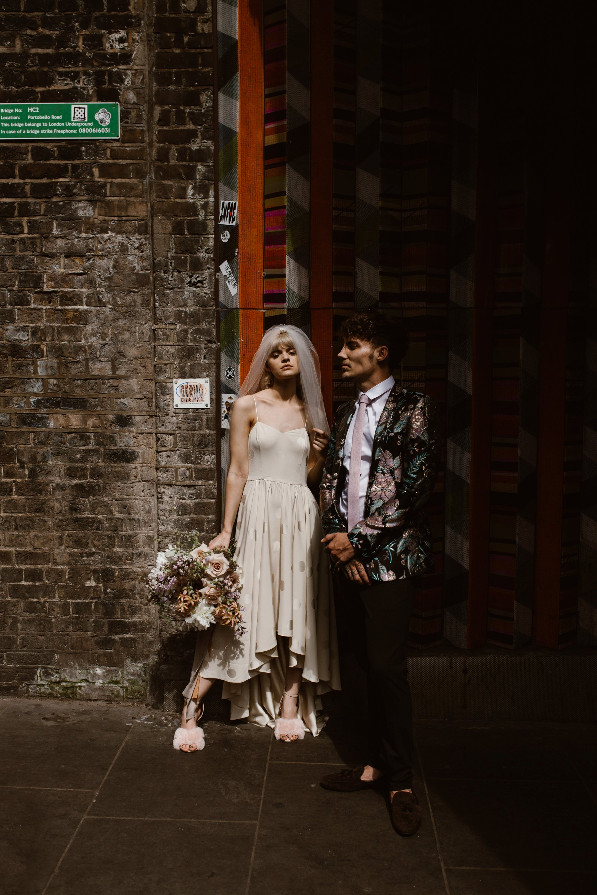 Modern Floral Notting Hill Elopement Agnes Black Cool Bride London 00038.jpg