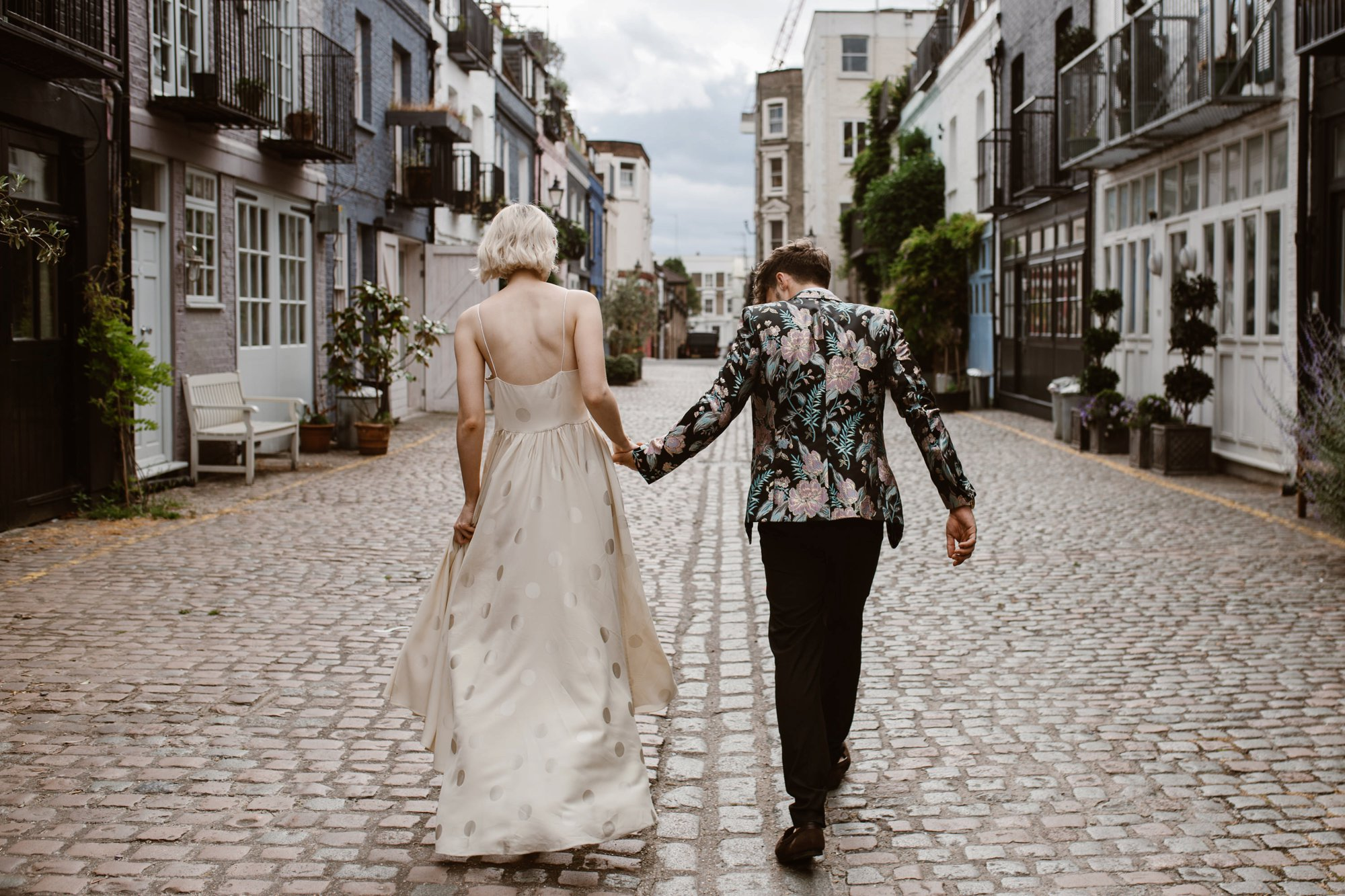 Modern Floral Notting Hill Elopement Agnes Black Cool Bride London 00046.jpg