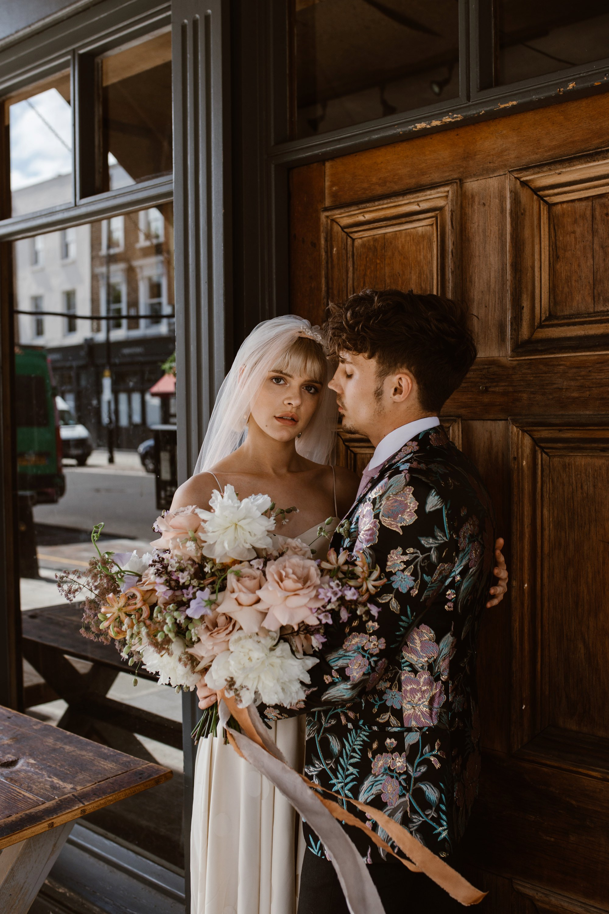 Modern Floral Notting Hill Elopement Agnes Black Cool Bride London 00021.jpg