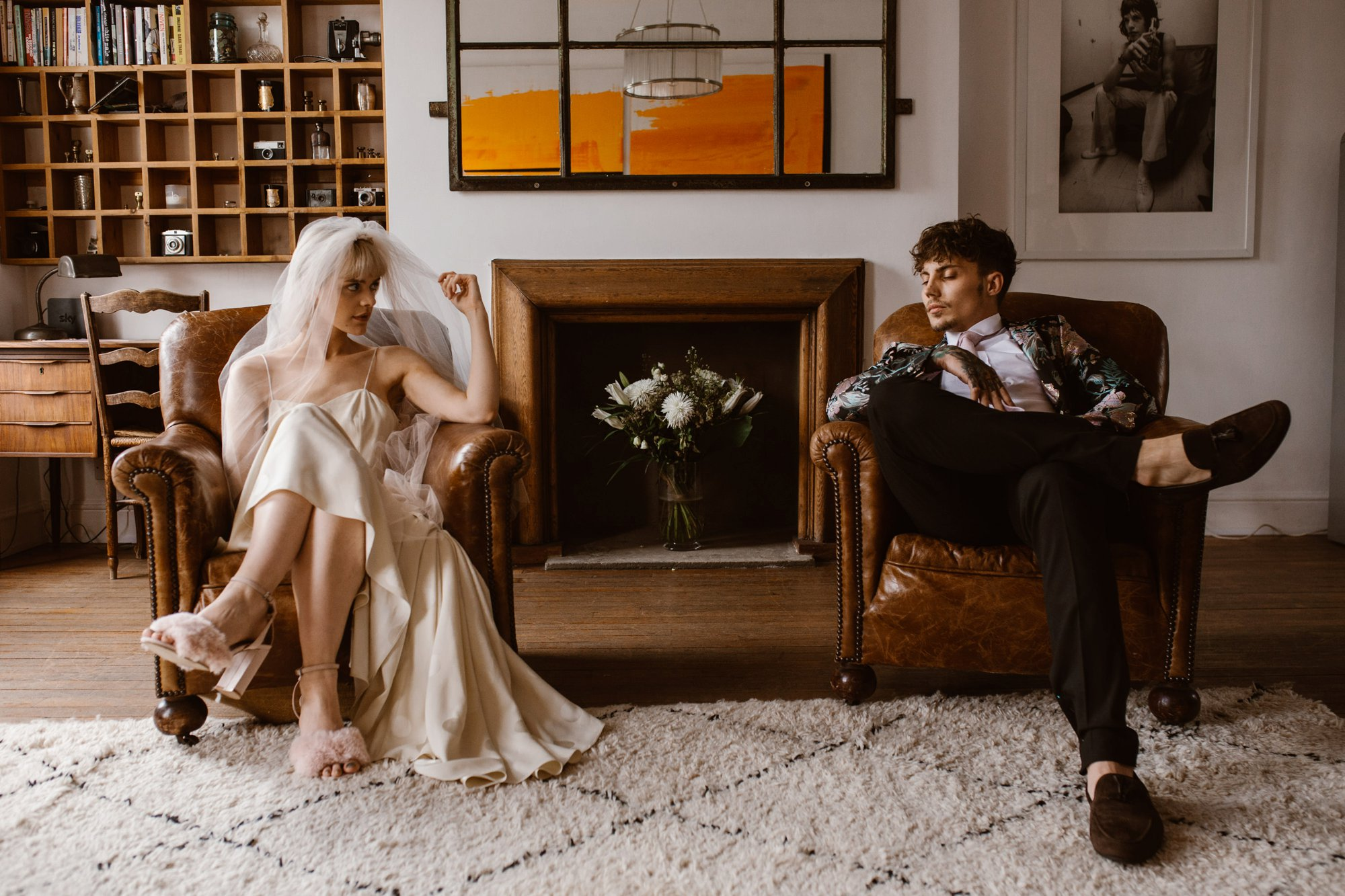 Modern Floral Notting Hill Elopement Agnes Black Cool Bride London 00012.jpg
