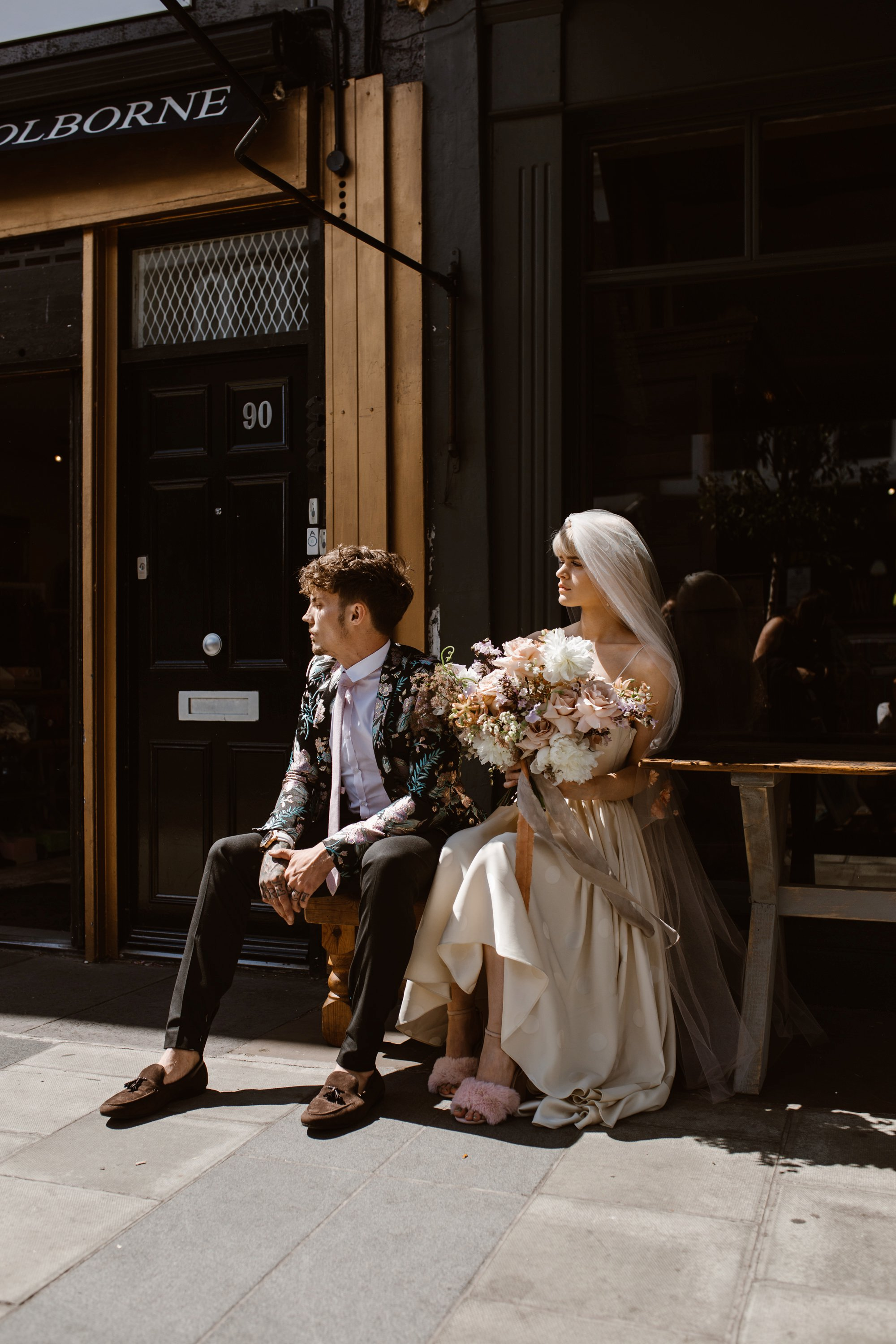 Modern Floral Notting Hill Elopement Agnes Black Cool Bride London 00018.jpg