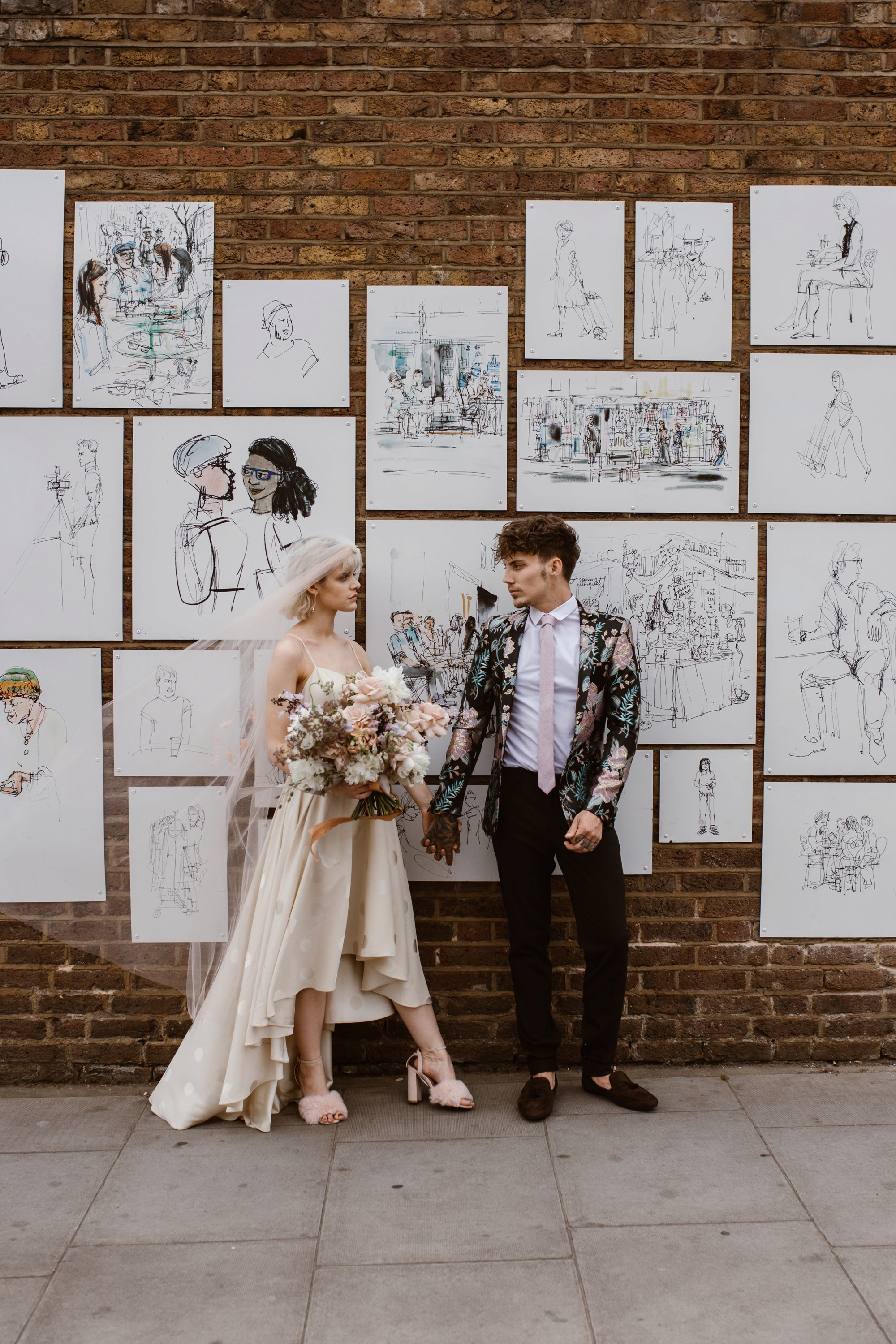 Modern Floral Notting Hill Elopement Agnes Black Cool Bride London 00027.jpg