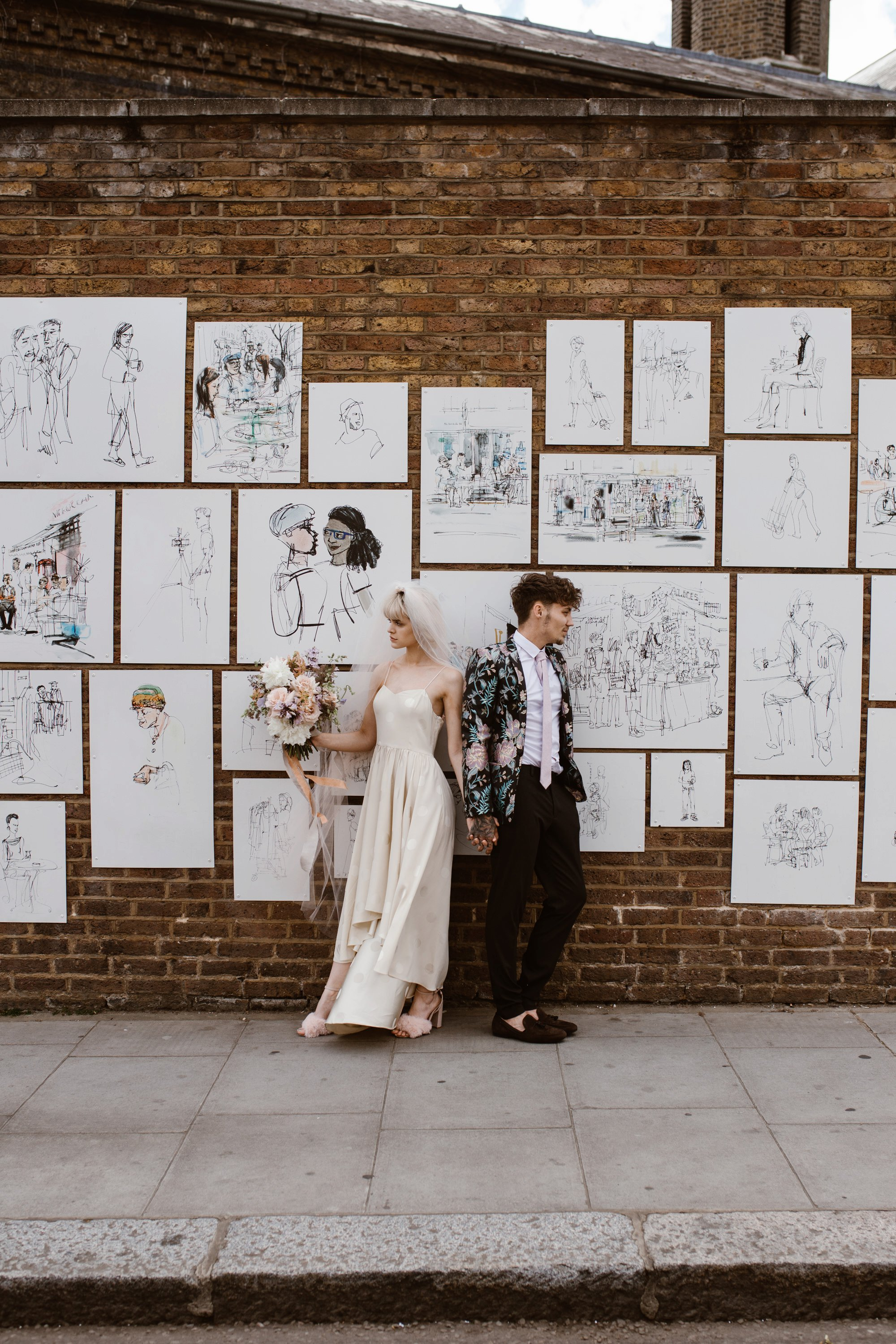 Modern Floral Notting Hill Elopement Agnes Black Cool Bride London 00029.jpg