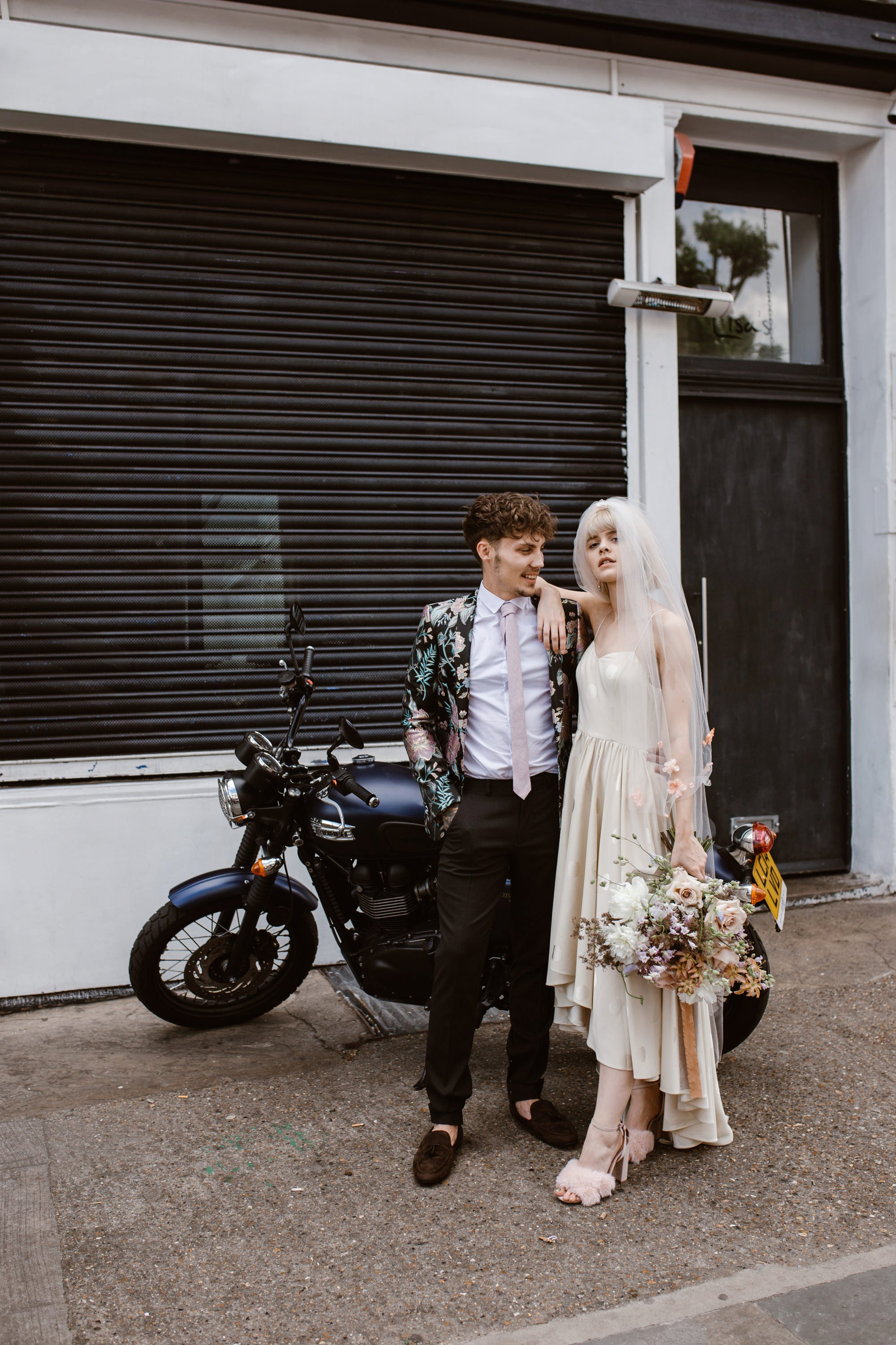 Modern Floral Notting Hill Elopement Agnes Black Cool Bride London 00032.jpg