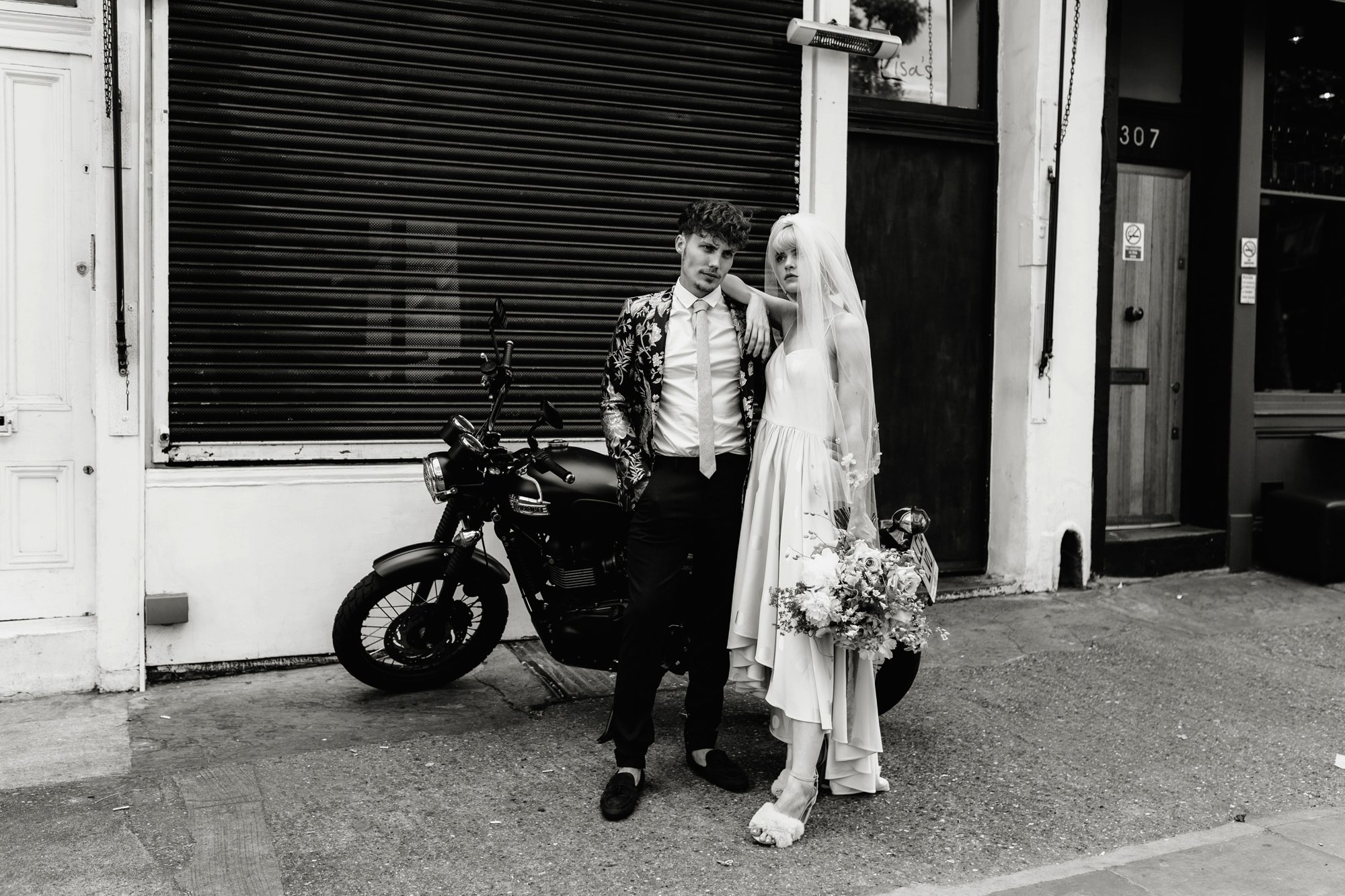 Modern Floral Notting Hill Elopement Agnes Black Cool Bride London 00033.jpg