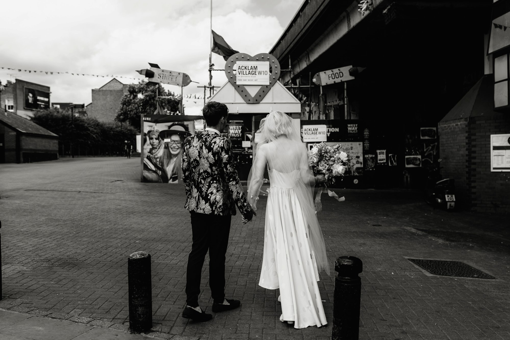 Modern Floral Notting Hill Elopement Agnes Black Cool Bride London 00036.jpg