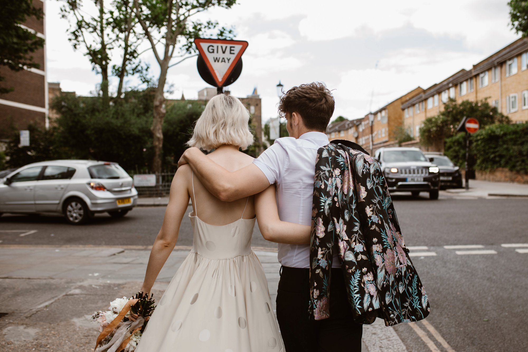 Modern Floral Notting Hill Elopement Agnes Black Cool Bride London 00050.jpg