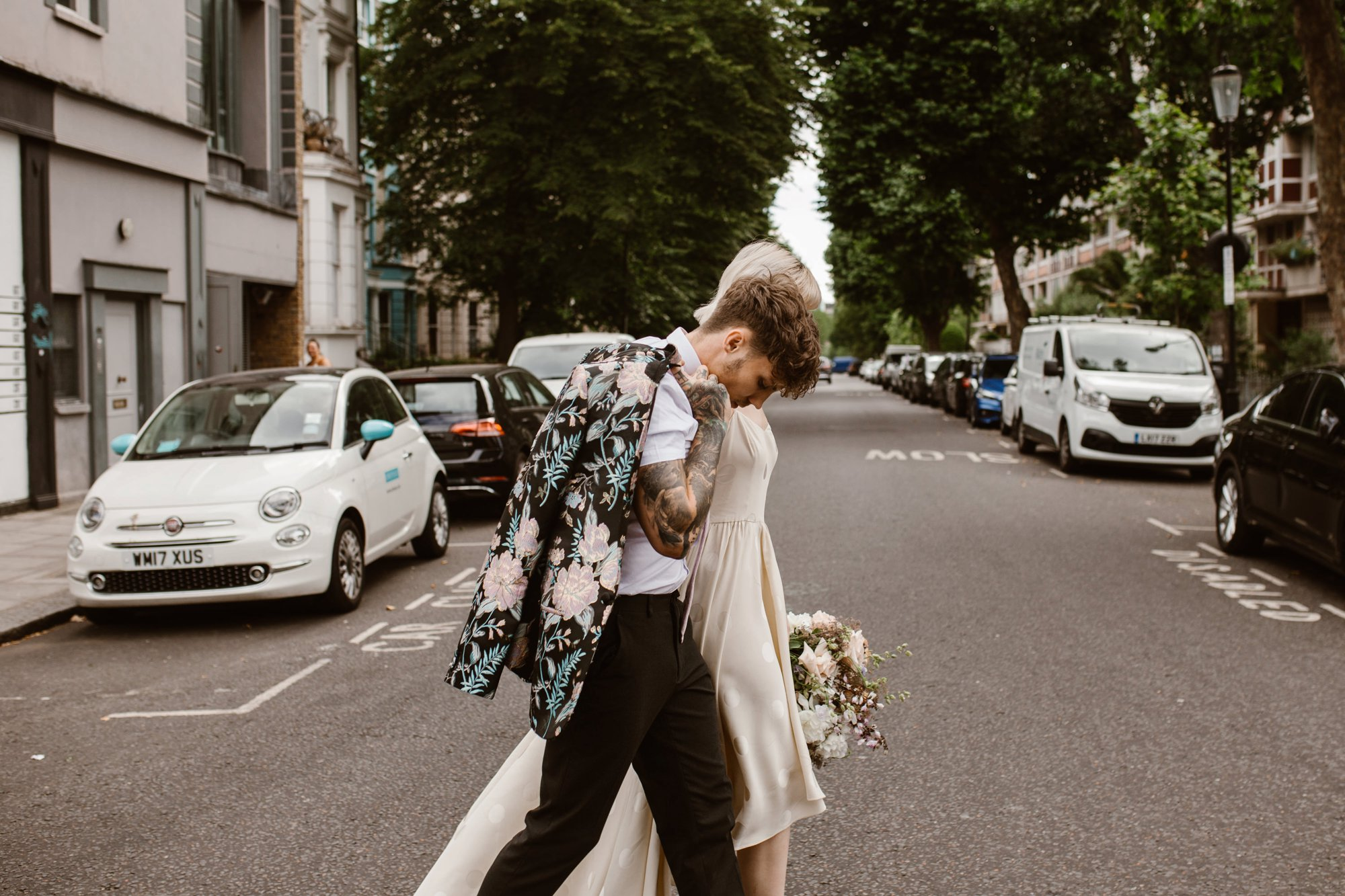 Modern Floral Notting Hill Elopement Agnes Black Cool Bride London 00051.jpg