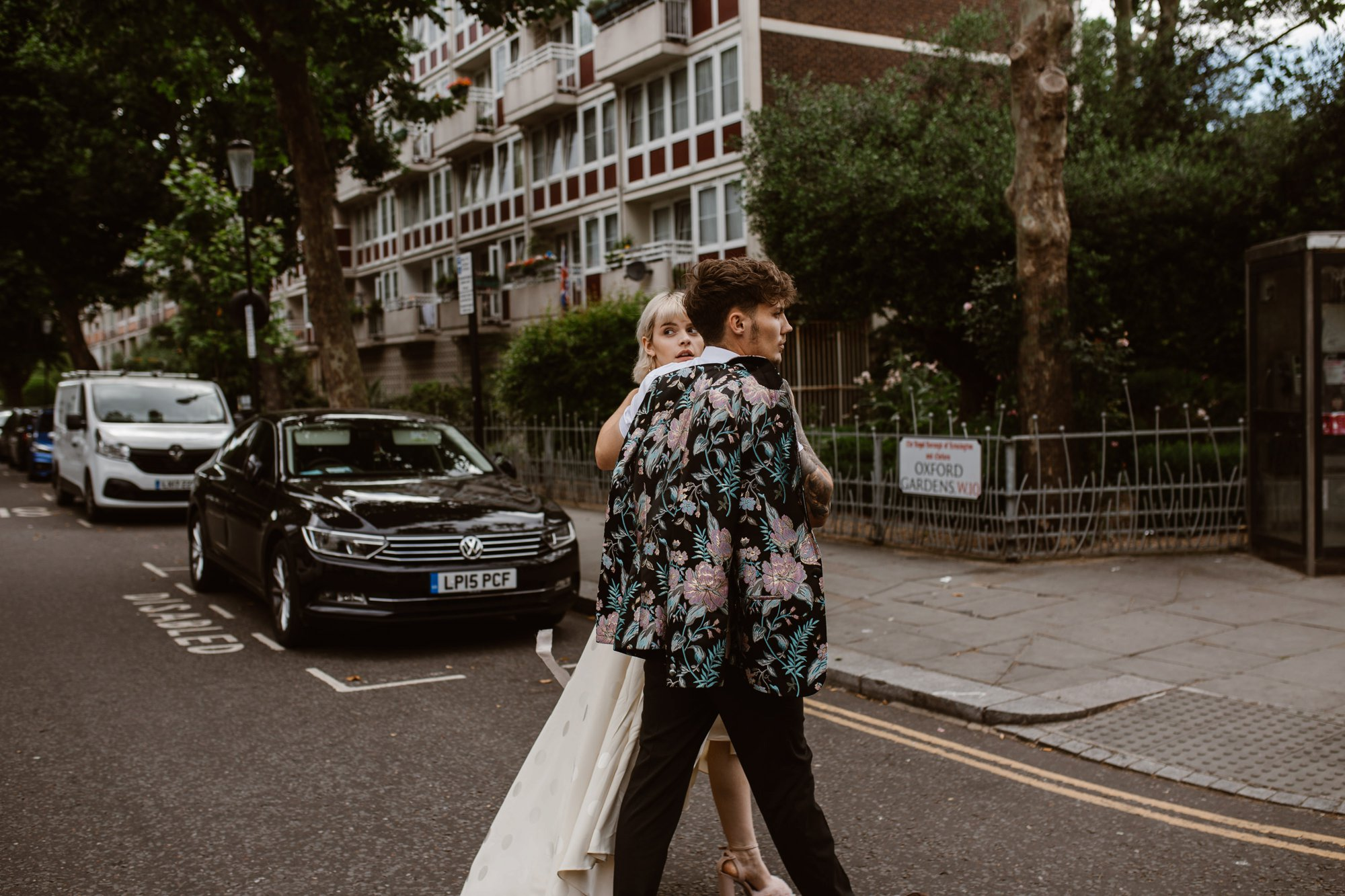 Modern Floral Notting Hill Elopement Agnes Black Cool Bride London 00052.jpg