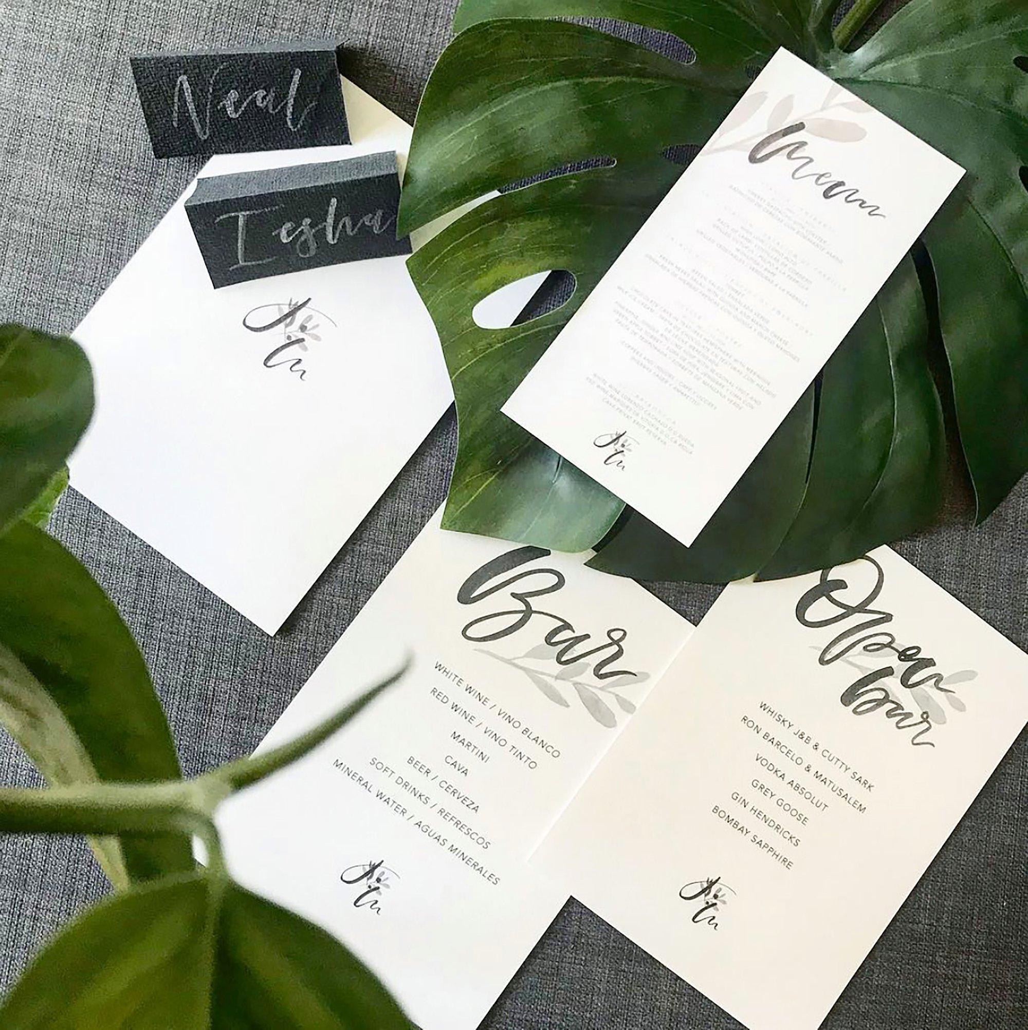 Bee Davies Illustration Floral and Geometric Handpainted wedding jackets calligraphy stationery cool bride modern weddings 00002.jpg