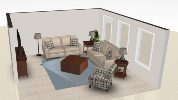 Floor Plan Elevation for Jessica's home.