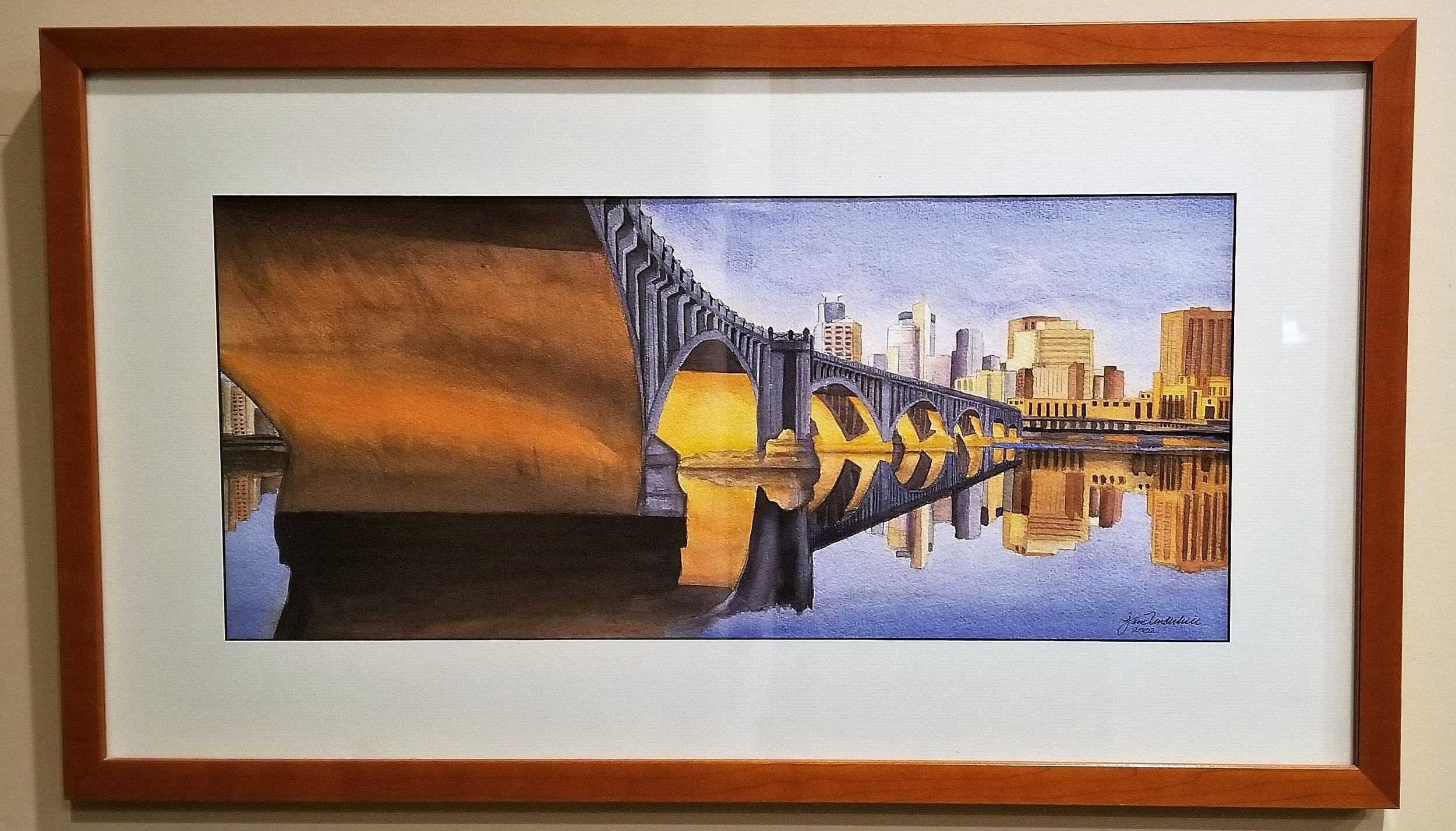This painting of a famous bridge in the Twin Cities won her a 1st place prize!