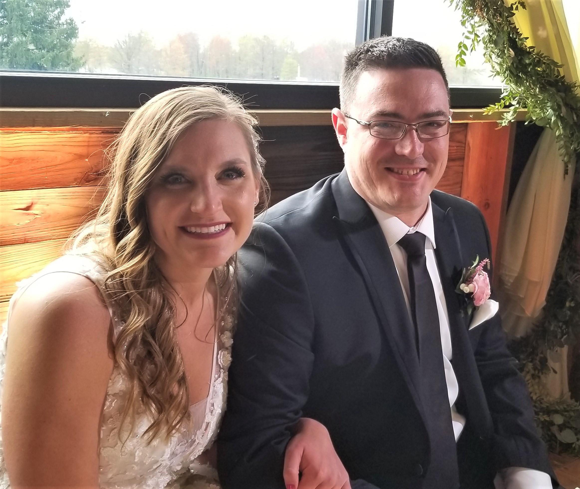 The happy couple: Tara and Tim