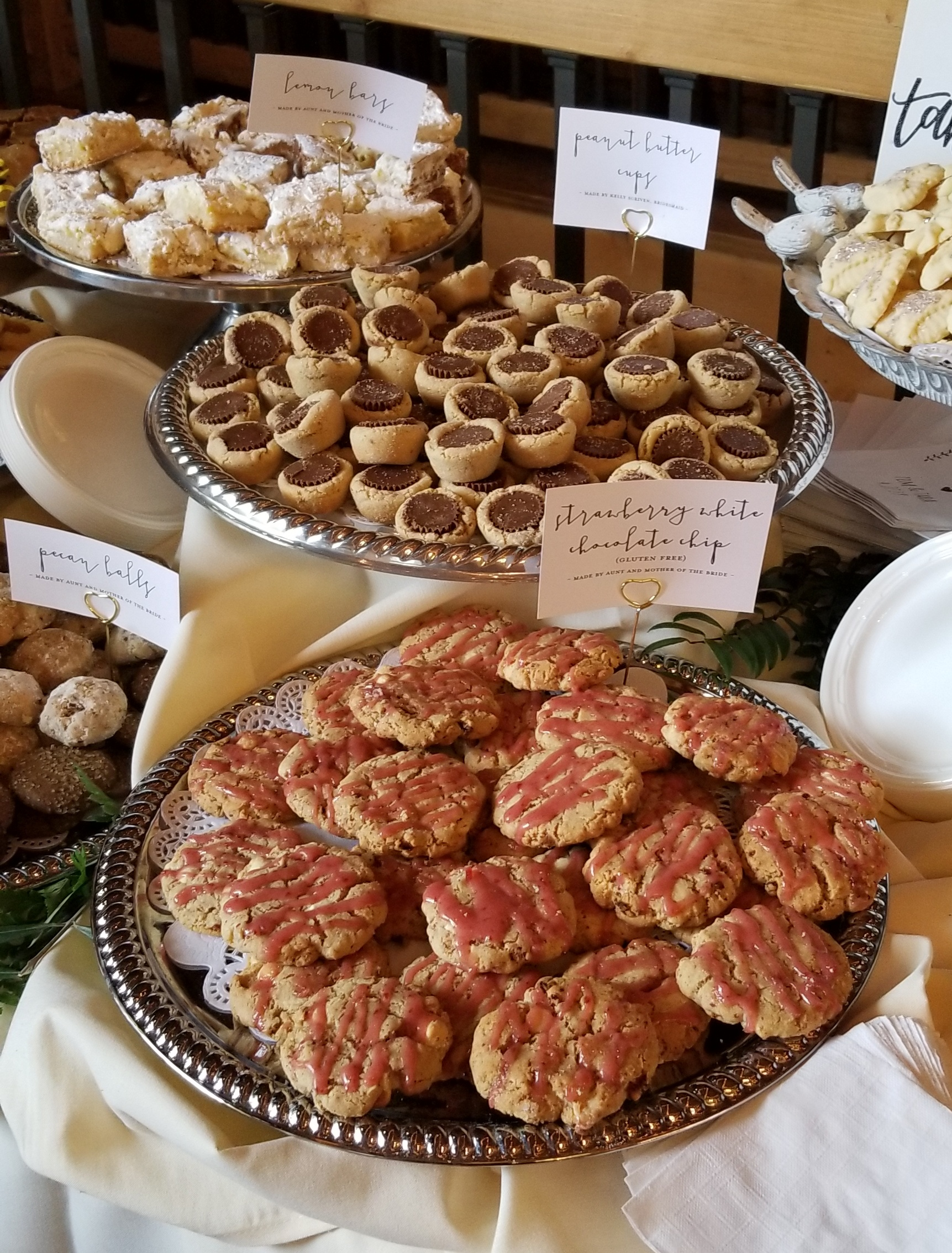 Lemon Bars, Peanut Butter Cups, and Strawberry White Chocolate Chip made an appearance!