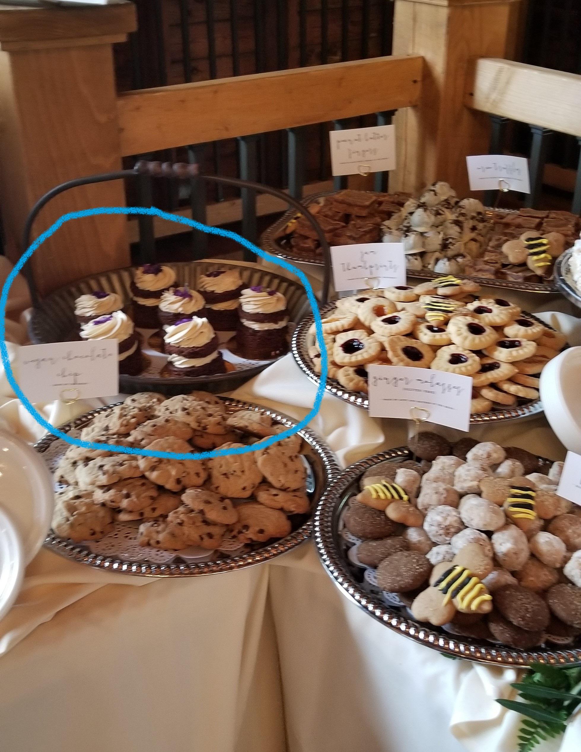 Vegan Chocolate Peanut Butter Cupcakes from Pittsburgh bakery, Butterwood Bake Consortium.
