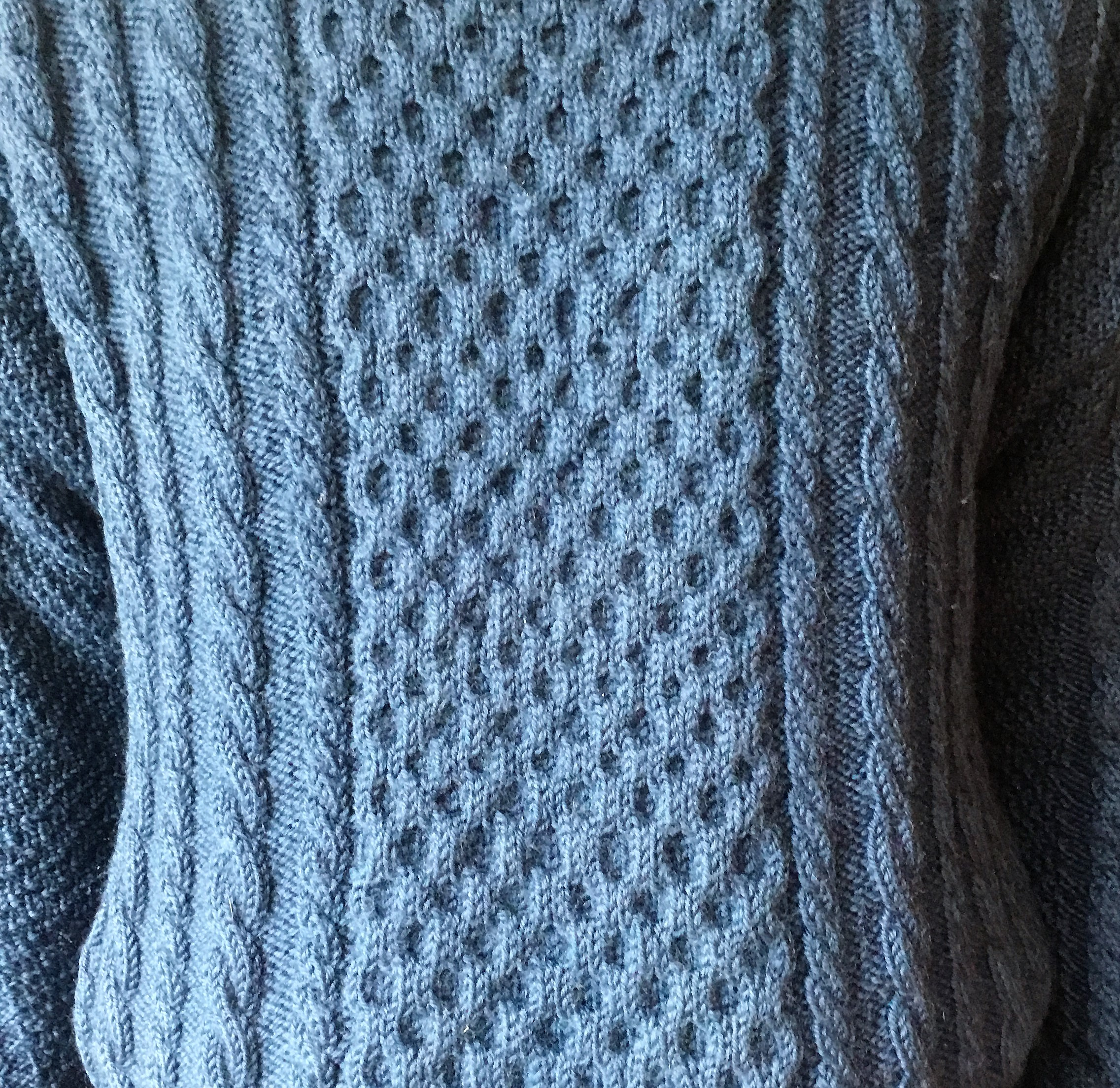 Stunning cable knit pattern, a traditional Scotland design.