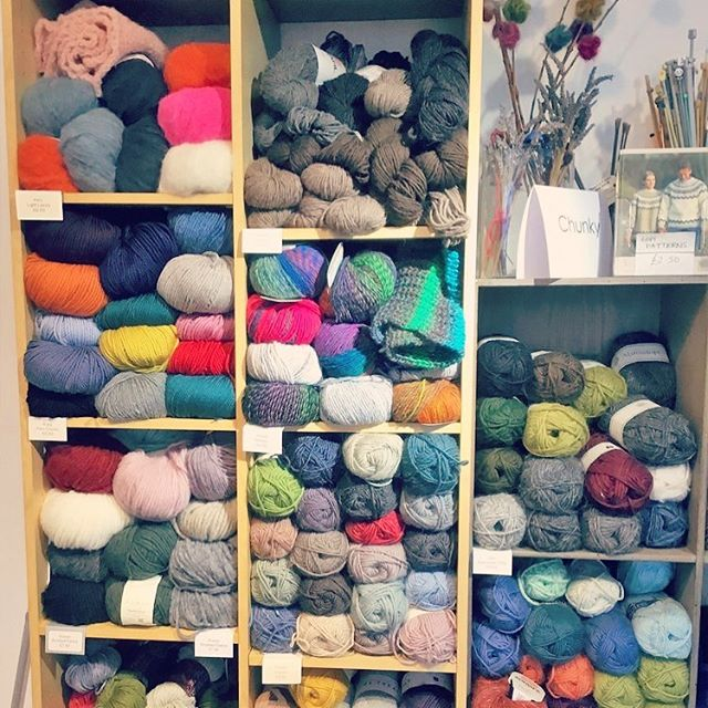 "Olwyn buys some of her yarns at a lovely shop called ""Sharp Works"" in Herne Hill, London #yarn #knitting #knittersofinstagram #knittersoftheworld #homedesignhandcraft #knithappens @sharp_works"