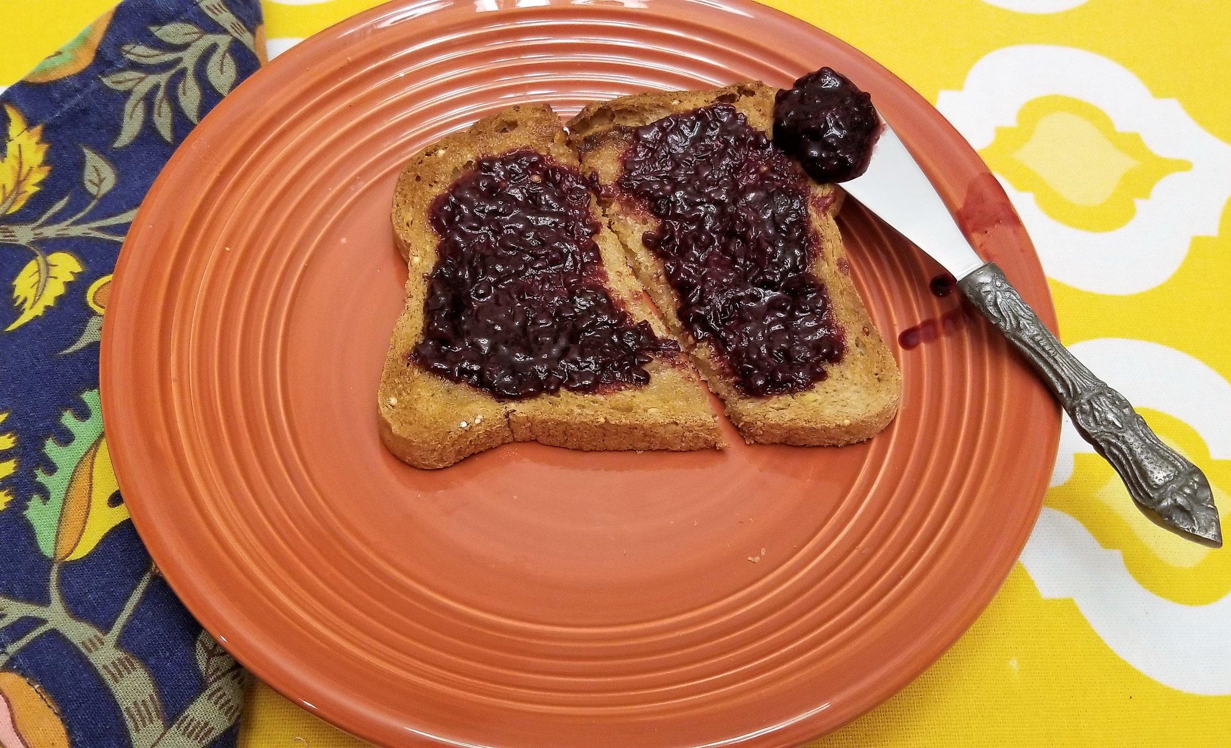 Our jam on gluten free toast!