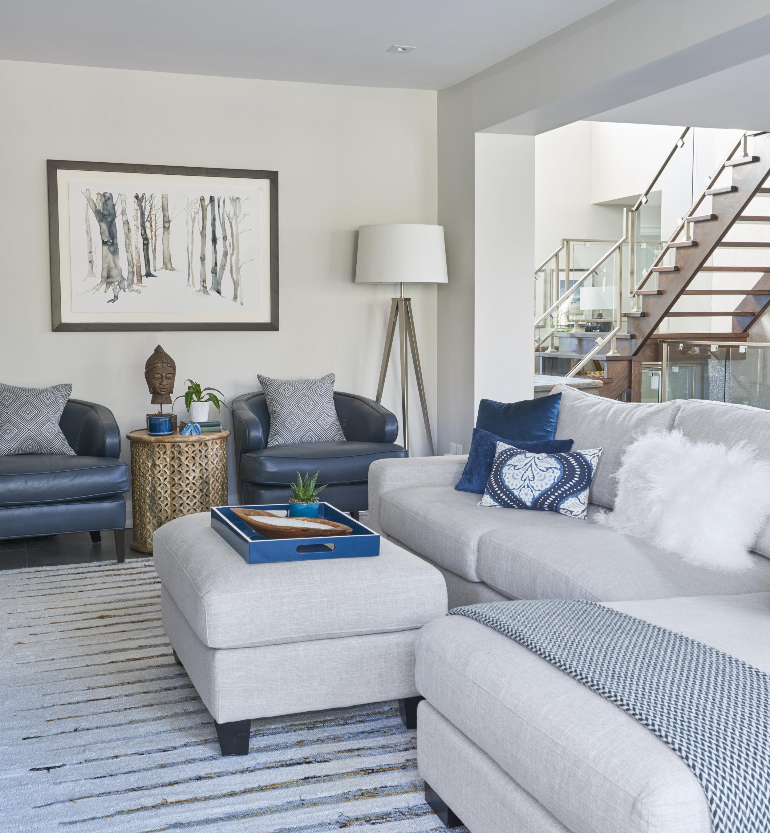 blue grey family room