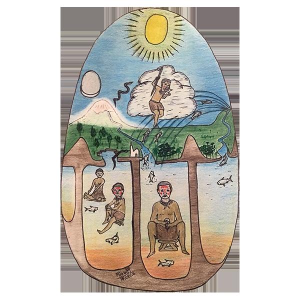 Dibujo Miguel Nuñez, etnia Makuna