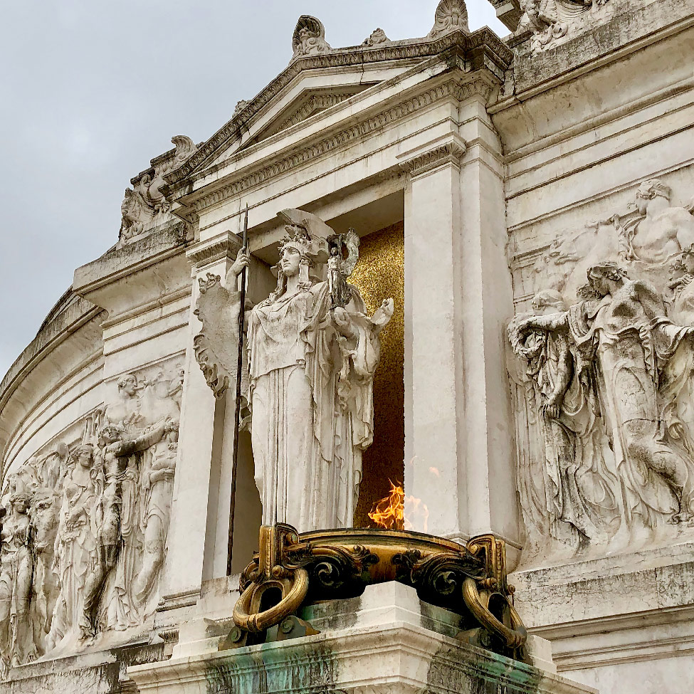 Trevi Fountain, gelato, and Piazza della Minerva, Rome, Italy