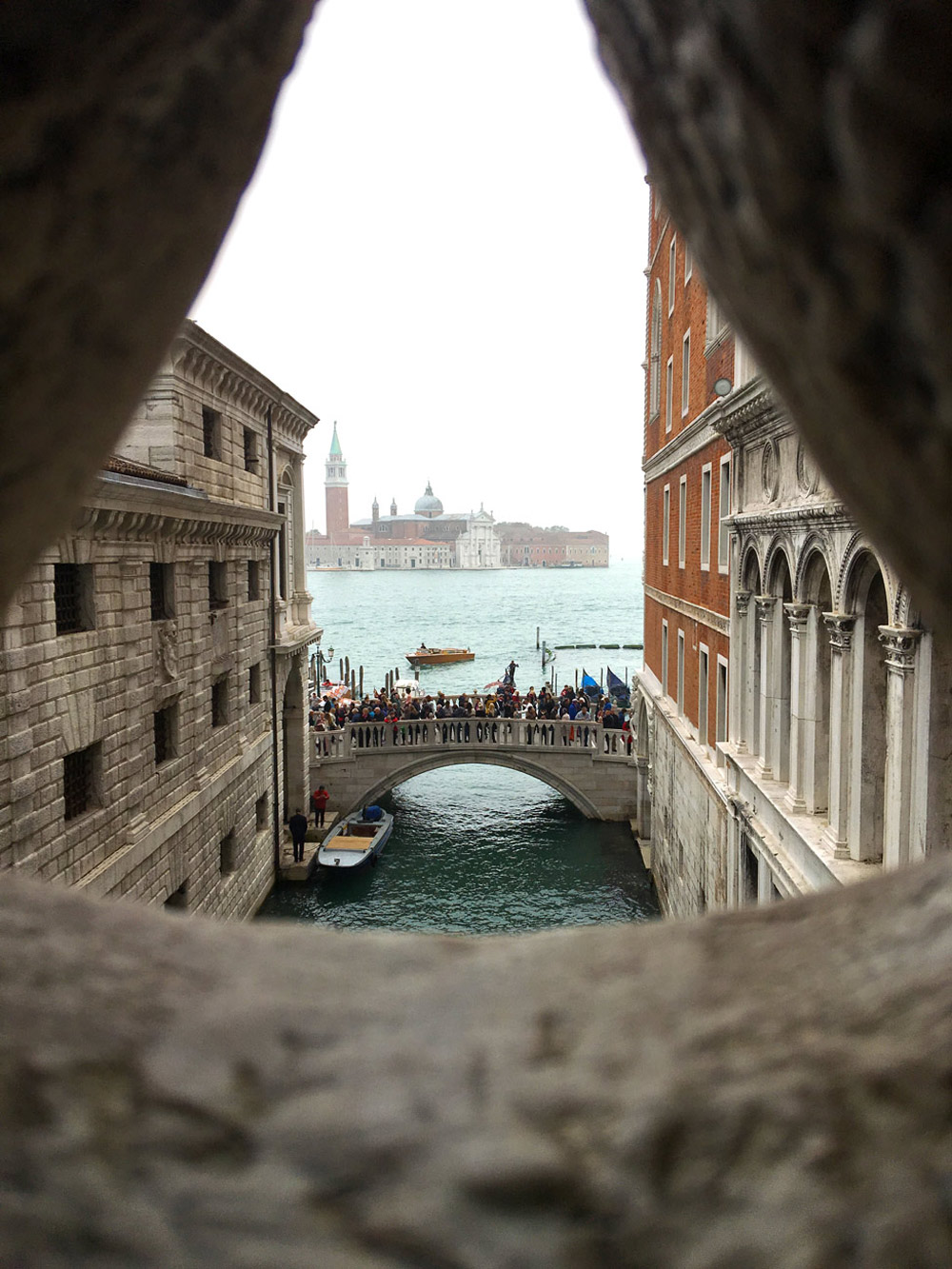 View from the Bridge of Sighs, Doge's Palace