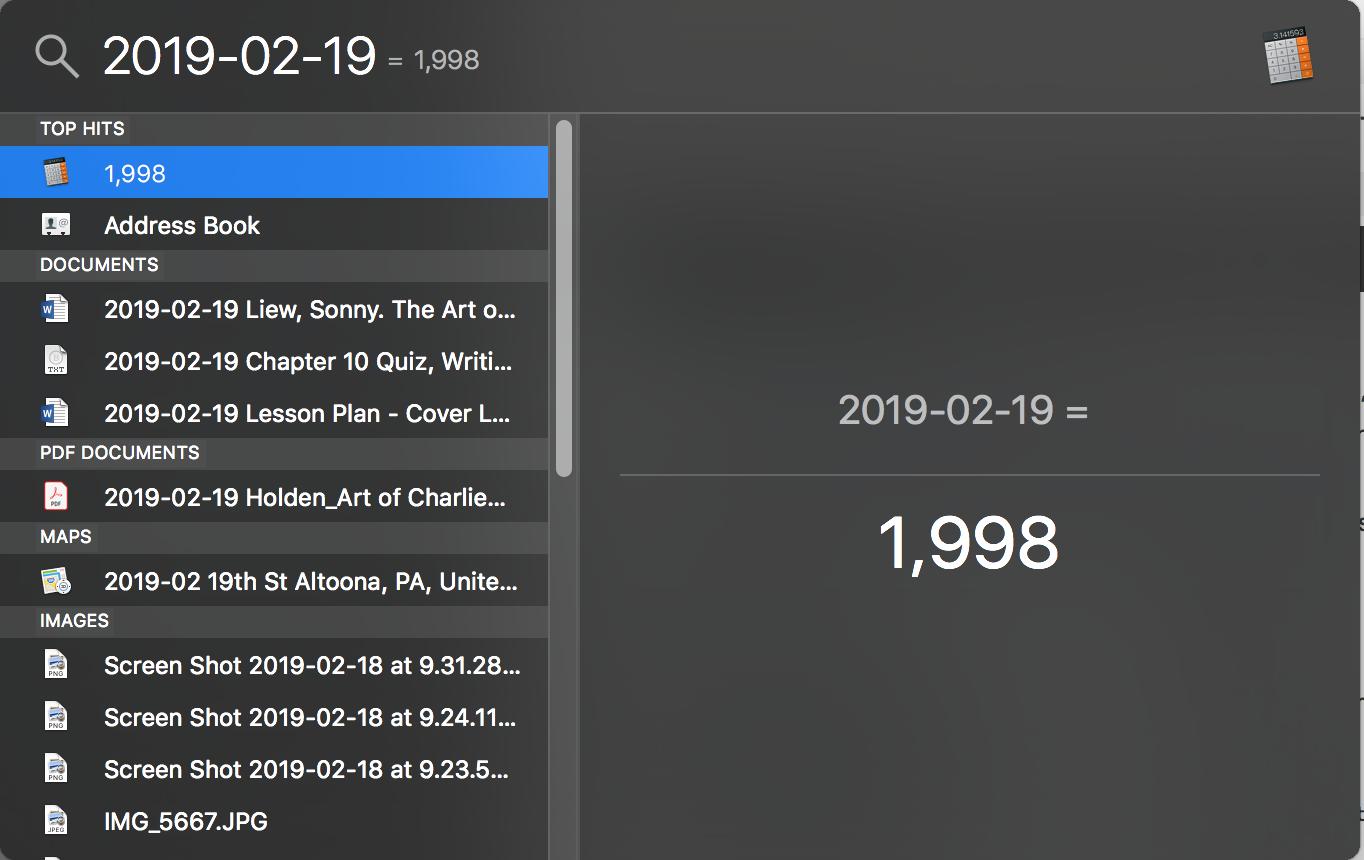 Bonus: now I know what 2019 minus 2 minus 19 is.