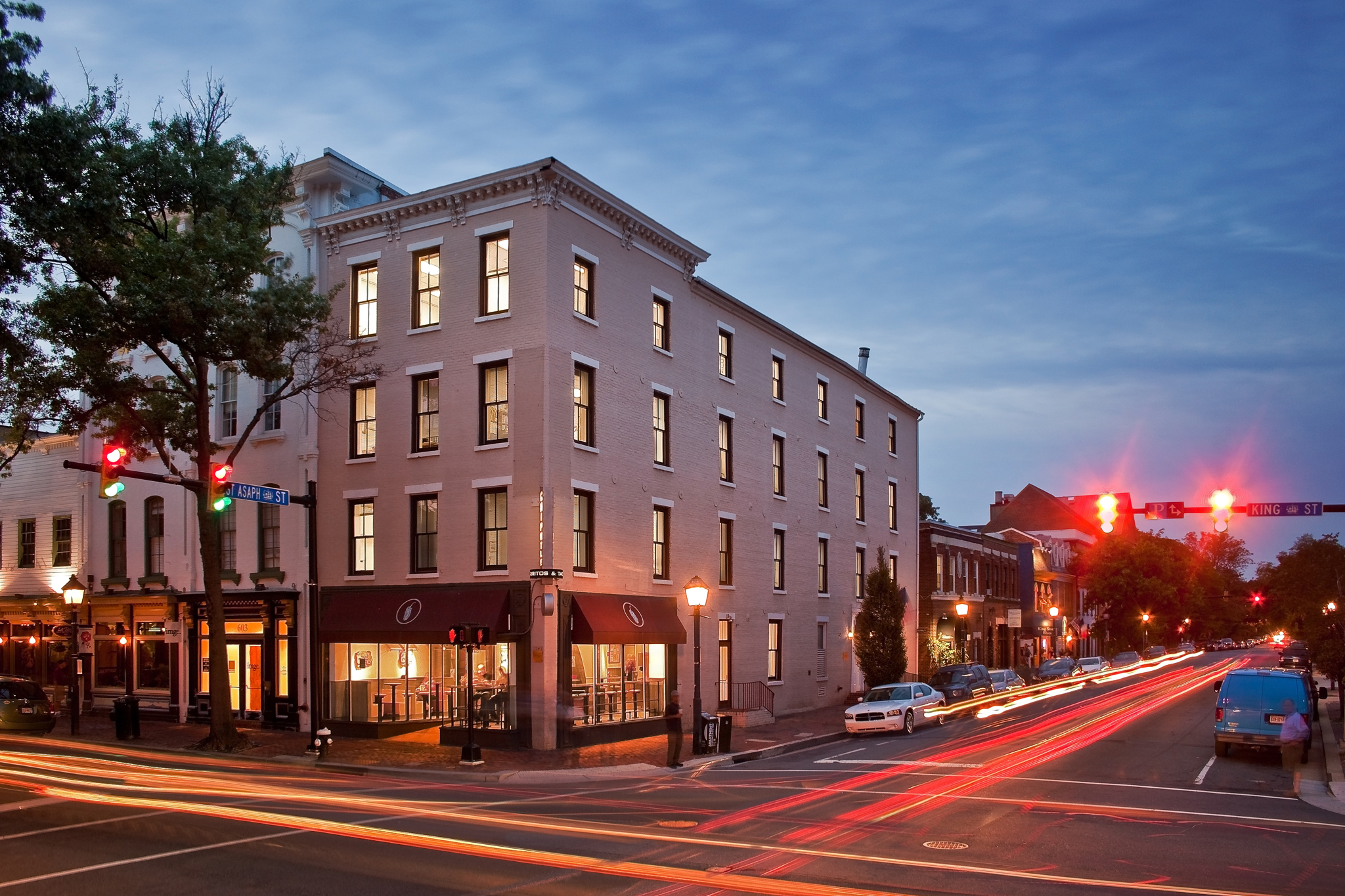 A historic gem in the heart of old town gets a major renovation and rebranding into a boutique high end executive office space highlighting the history of the building