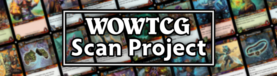 go forth and scan with us! It's incredibly easy and cheap to do! All you need is wow tcg cards and the most basic printer / scanner!