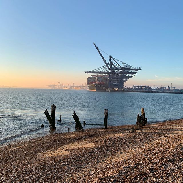 Great weather in Felixstowe after carrying out #compartmentationsurveys #firesafety
