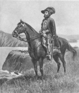 A spanish explorer and his horse