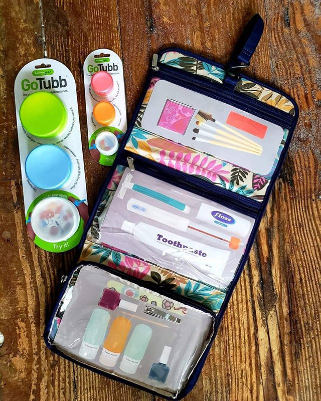 Time to get organized! A hanging toiletry kit for travel is a must!  #travelislove❤  #travelorganization