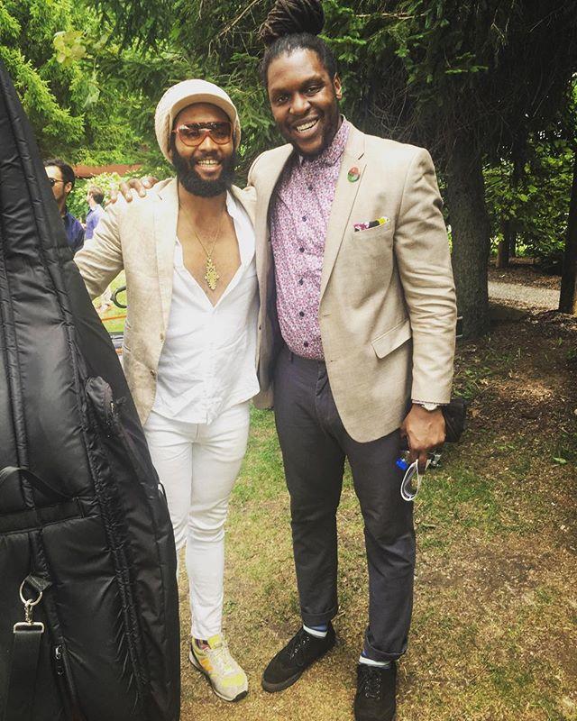 #TBT 🇯🇲 🇭🇹 : : : @rasbessi : : #bassplayer #RussellHall #caribbeanmusic #JonathanMichel #jamaica #haiti