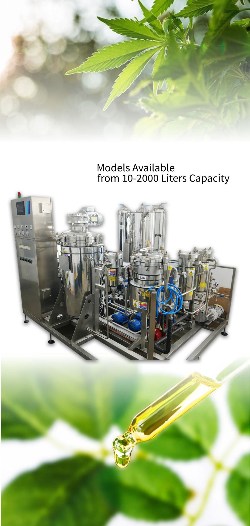FC Extractor Models - Most extraction processes use high heat and/or high pressure to distill the oils of the plant. In doing so, essential qualities of the oil, the terpenes, are burned or blasted away, thus compromising the integrity of the oil. Unlike these common extraction processes, Timatic's equipment and extraction process use low heat and low pressure resulting in purer oils of the highest quality, which are fully ready for creams, lotions, and vape pens.Timatic extraction equipment uses tetrafluoroethane, HFC 134a, as the solvent for extraction. More traditional extraction processes use flammable, volatile solvents like Butane or Ethanol, or require extremely high pressure for the solvent to liquify. These processes often require expensive buildings or remodels that must meet federal and state building codes.HFC 134a extractions use dry or fresh flower or trim and can be performed without any pre-treatment. Consistency of the extracted oil from batch to batch is controlled through a microprocessor, which can be programmed to control the parameters and variables of the extraction. Up to 99 programmed processes are possible with the Timatic microprocessor. The Timatic extraction processes and equipment are truly state of the art and produce a product of the highest quality.Please contact us if you would like to learn more about our equipment.