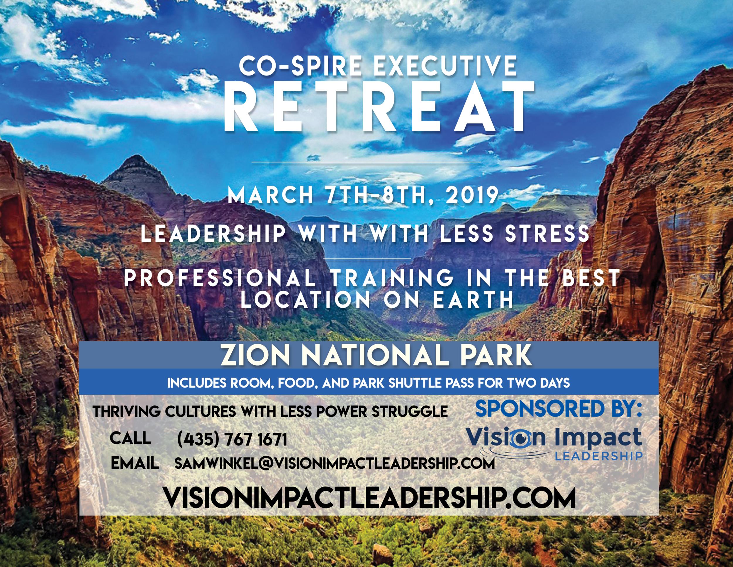 Co-spire 2019 Retreat Flier