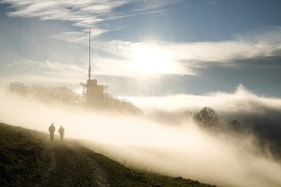 people walking clouds tower.jpg