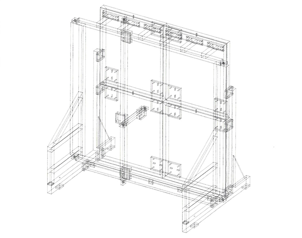 CAD drawing of steel structure.