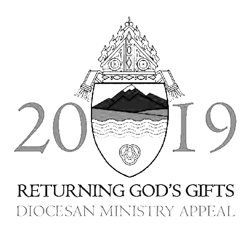RGG - Today our commitments as a parish to the 2019 Returning God's Gifts Annual Appeal are being offered through the diocese of Colorado Springs. As one family in faith, we join together by supporting programs and services no parish alone can offer, such as education and formation of our diocesan seminarians. Our goal this year is to have 100% participation. In order to achieve this, each of you is asked to give in gratitude for the many gifts God has given to you. Please help us meet our parish goal of $198,334.