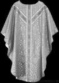 "Rose Vestments - On behalf of the parish I would like to thank Catherine Stoverink, Anna Bergmark's mother, who did such a beautiful job sewing the rose chasuble and dalmatic along with the chalice veil and burse.These new vestments turned a lot of heads and were very much appreciated. The Church prescribes ""rose"" vestments to be worn on Gaudete Sunday in Advent and Laetare Sunday in Lent. Thank you, Catherine!"