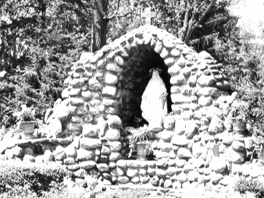 Grotto - On the Solemnity of the Annunciation I consecrated our parish to Our Blessed Mother. Having done this, I would like to build a grotto in honor of Our Lady of Fairest Love. Other have joined me in this desire and plans are forming to replace the decaying gazebo behind Fitzpatrick Hall with this grotto. If you are interested in helping with this project, please let me know.