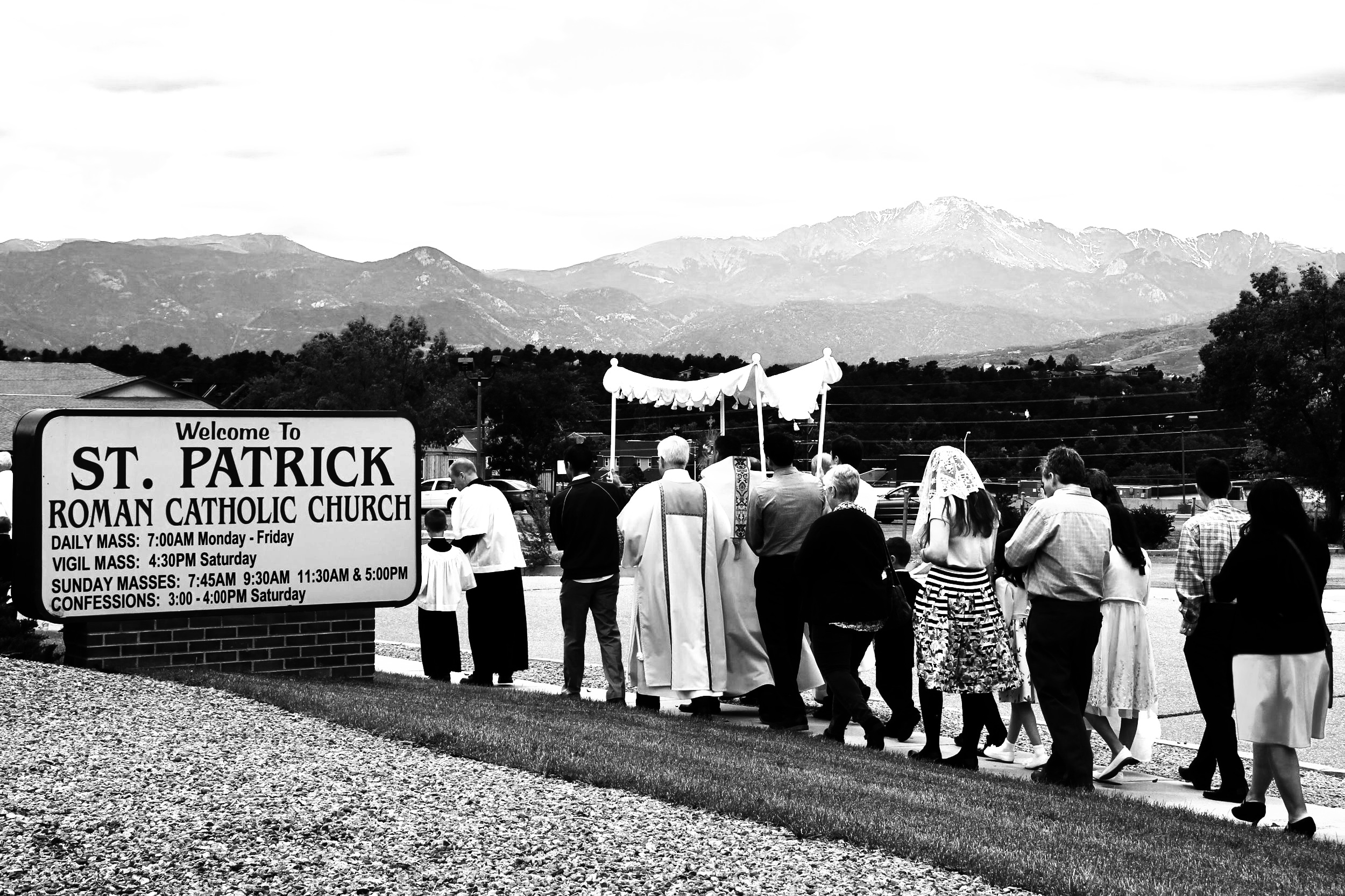 A Historic Procession - We are blessed as a parish to have initiated the annual Corpus Christi Procession last Sunday. I want to thank our Knights of Columbus, Altar Servers, the Altar Guard, our choir for the music for both Mass and Benediction, the Brady family for supplying the rose petal droppers, our deacons, the team that made the Eucharistic canopy, our young adult canopy bearers, and everyone who participated. A very special thanks goes out to Glen Koziuk, Andy Berry and Patty Henderson for organizing the procession. Photos from the procession are available on our website and Facebook page. Let us continue to show our love for our Eucharistic Lord in all of our times of adoration.