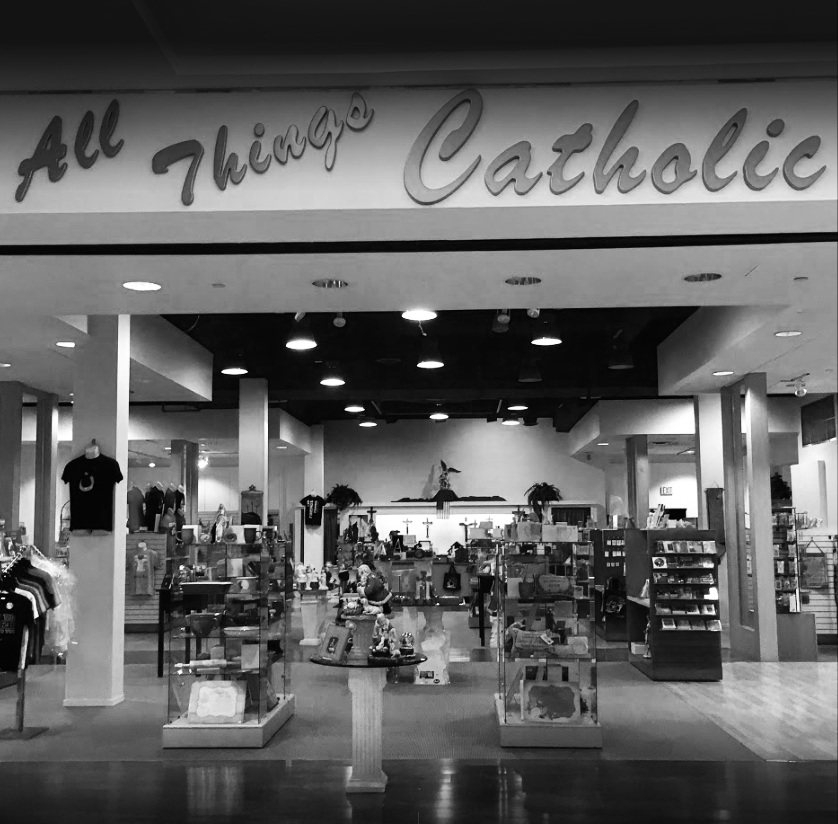 "Parishioner-Owned All Things Catholic Store - Did you know that ""All Things Catholic"" in the Chapel Hills Mall is owned by a parishioner and a place where several of our parishioners volunteer and evangelize? For many non-Catholics, ""All Things Catholic"" is the only true representation of our faith that they may ever see. While typical religious gift stores are small, dark and damp, ""All Things Catholic"" strives to create a space that is vibrant and welcoming to all. Many passersby will wander in not knowing they've entered a Catholic store; some will quickly retreat, but not before noticing that we proudly live by our convictions. As you can imagine, operating this store in the Chapel Hills Mall is expensive and has its challenges. Please support ""All Things Catholic"" so that they can continue to have a Catholic presence and a message of Merciful Love for our greater community. For more information contact Rachelle LaMay at (719) 867-1967 or visit the All Things Catholic Facebook page."