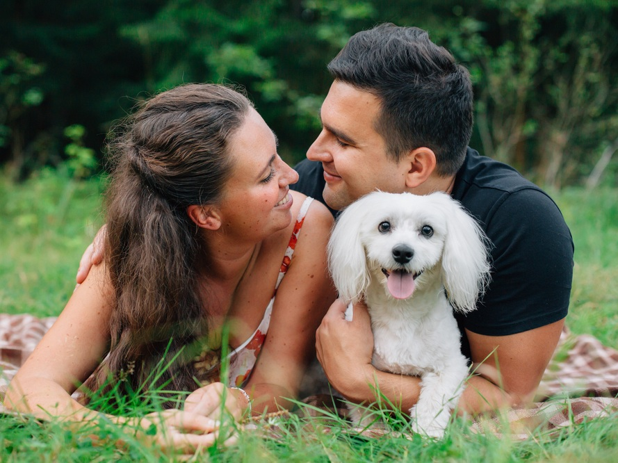 Engagement Photo Shoot - $100 | 1 Hour Plus receive 10% off the wedding package!I'll meet you at your engagement shoot location. When it's time for your pup to be included, I will help with photos. We don't want your furry friend trying to run after a squirrel during your sweetest moments! When it's time to focus on just the two of you, I will chaperone the dog, take them for a walk, etc.