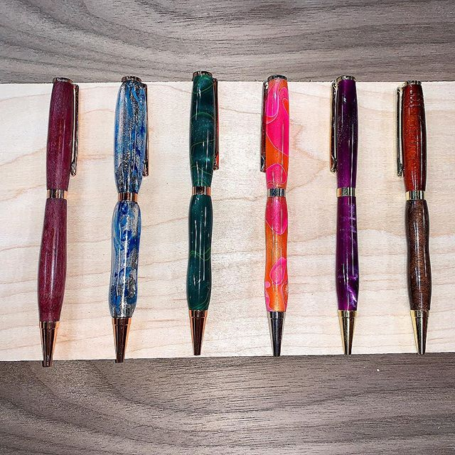 Went on a pen turning frenzy! I am so happy to say that pretty soon I will be bringing some pens for sale to you all! I will be posting them once I have more finished! Stay turned for more projects! #woodworking #woodturning #imadeapen #buylocal #tsquaredwoodworks