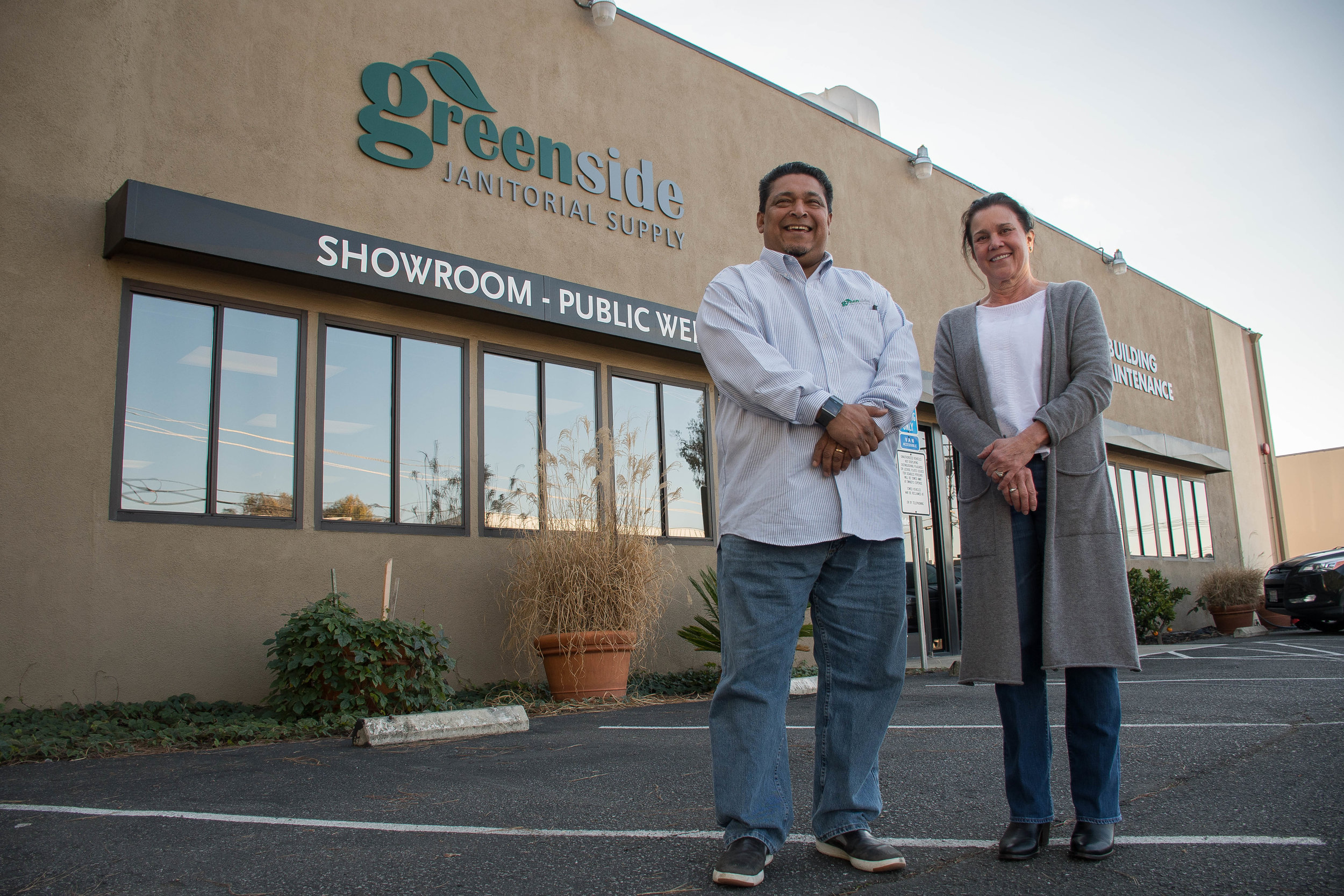 Ernesto Moreno & Stacy Hacker - Co-Founders of Greenside Janitorial Supply